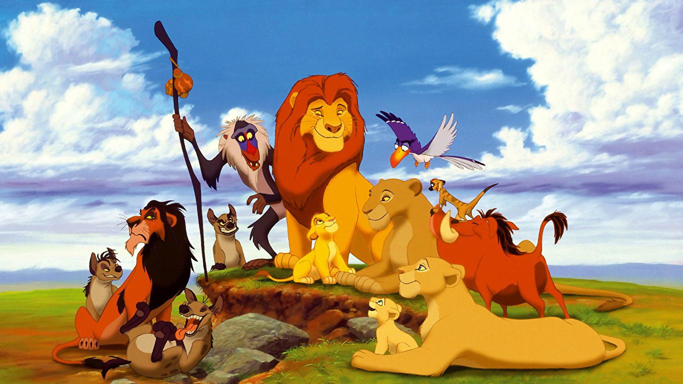 壁紙 1366x768 ディズニー ライオン キング ライオン 漫画 動物