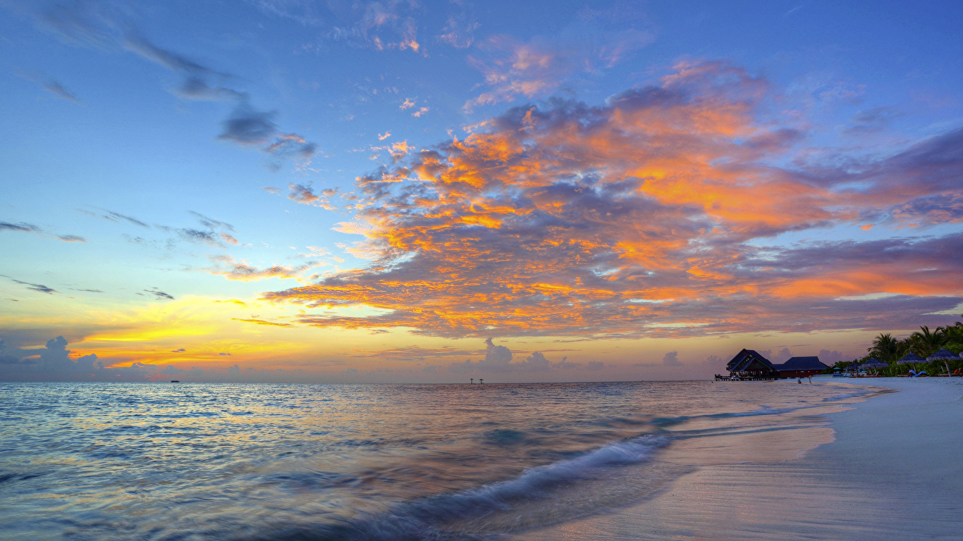 Pictures Sea Nature Sky Sunrises And Sunsets Coast Clouds
