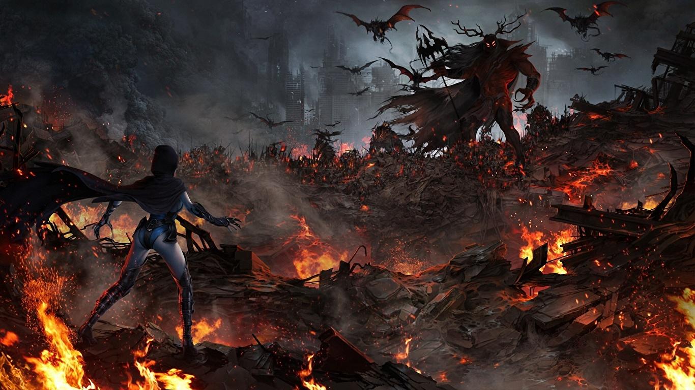 Papeis de parede Demônios Monstros Elemental Unreal Engine