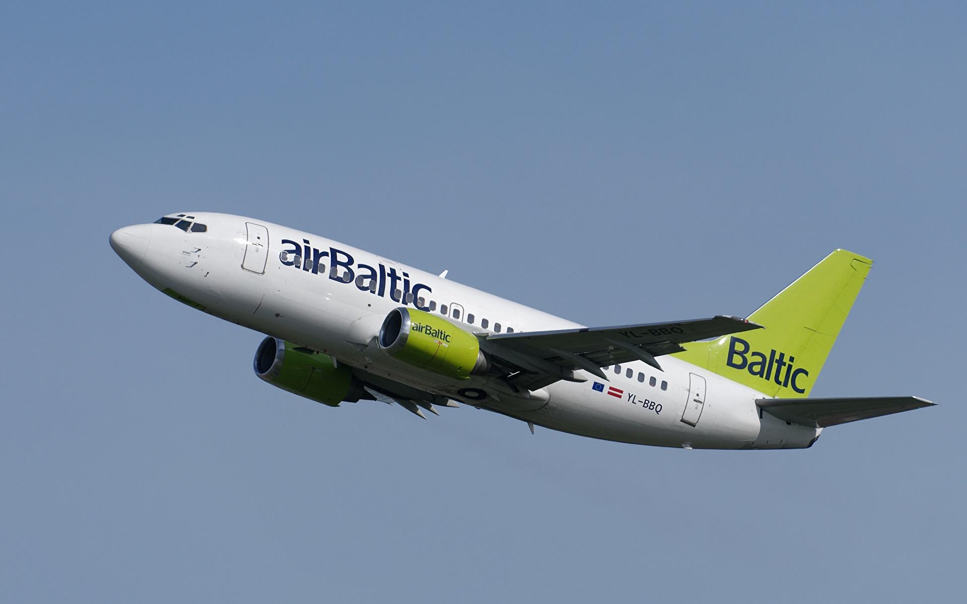 Bilder von Boeing Flugzeuge Verkehrsflugzeug Air Baltic 737-53S Luftfahrt 1920x1200