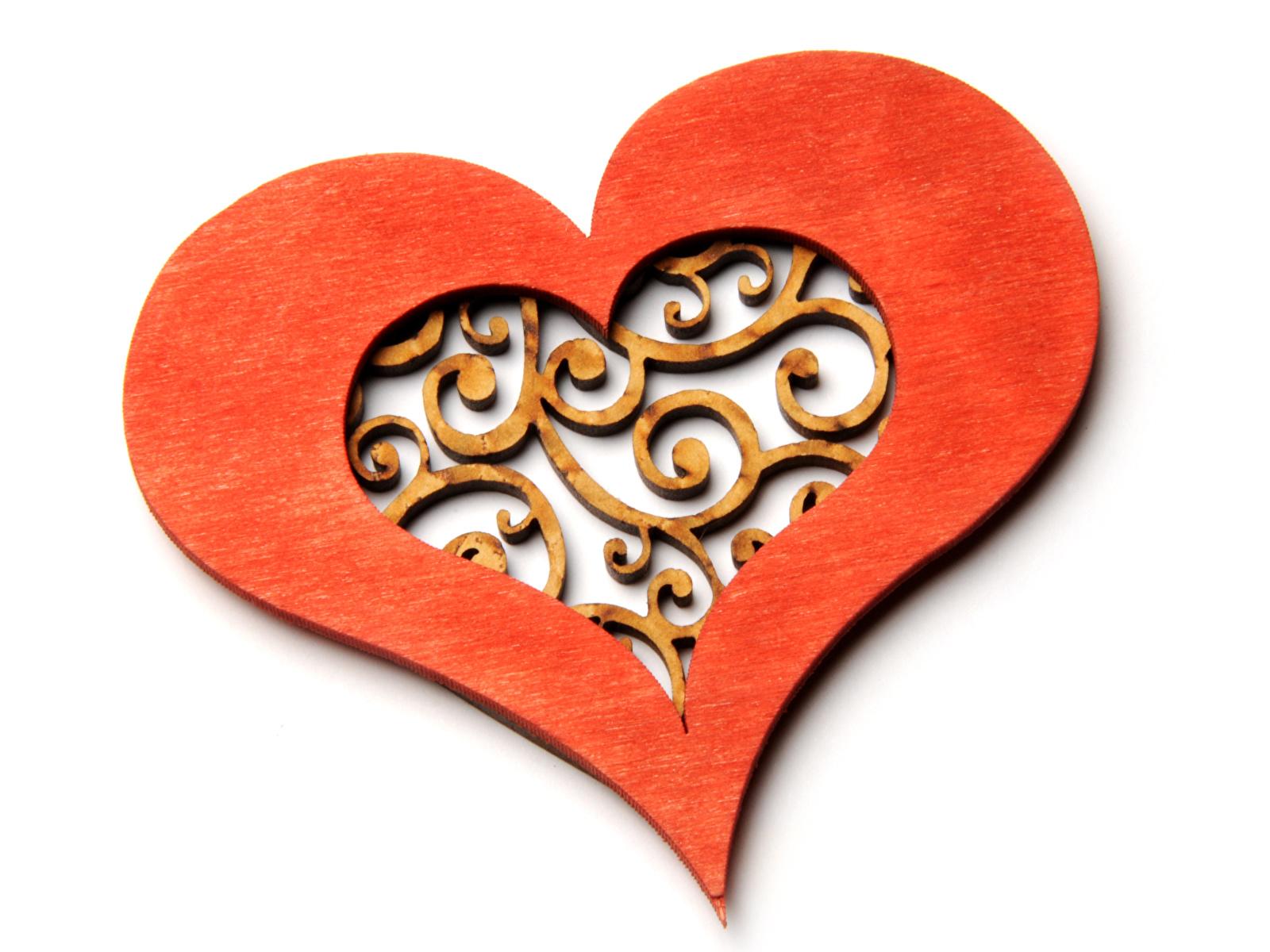 Fotos von Valentinstag Herz Hölzern Weißer hintergrund Design 1600x1200 aus Holz