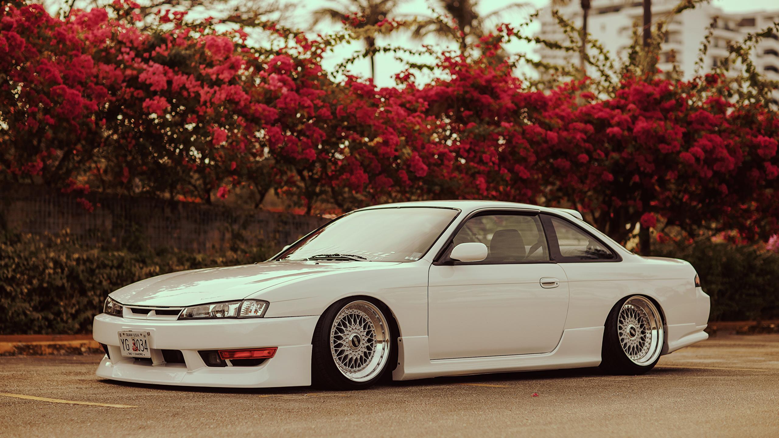 Papeis De Parede 2560x1440 Nissan Silvia S14 Stance Lateralmente Branco Carros Baixar Imagens