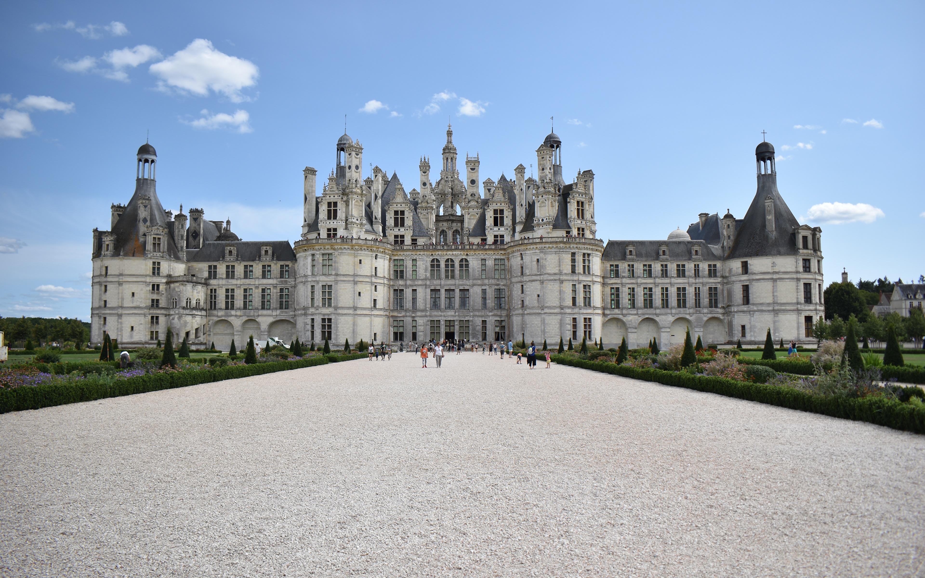 Achtergrond Paleis Frankrijk Museum Burcht Steden 3840x2400 musea een stad