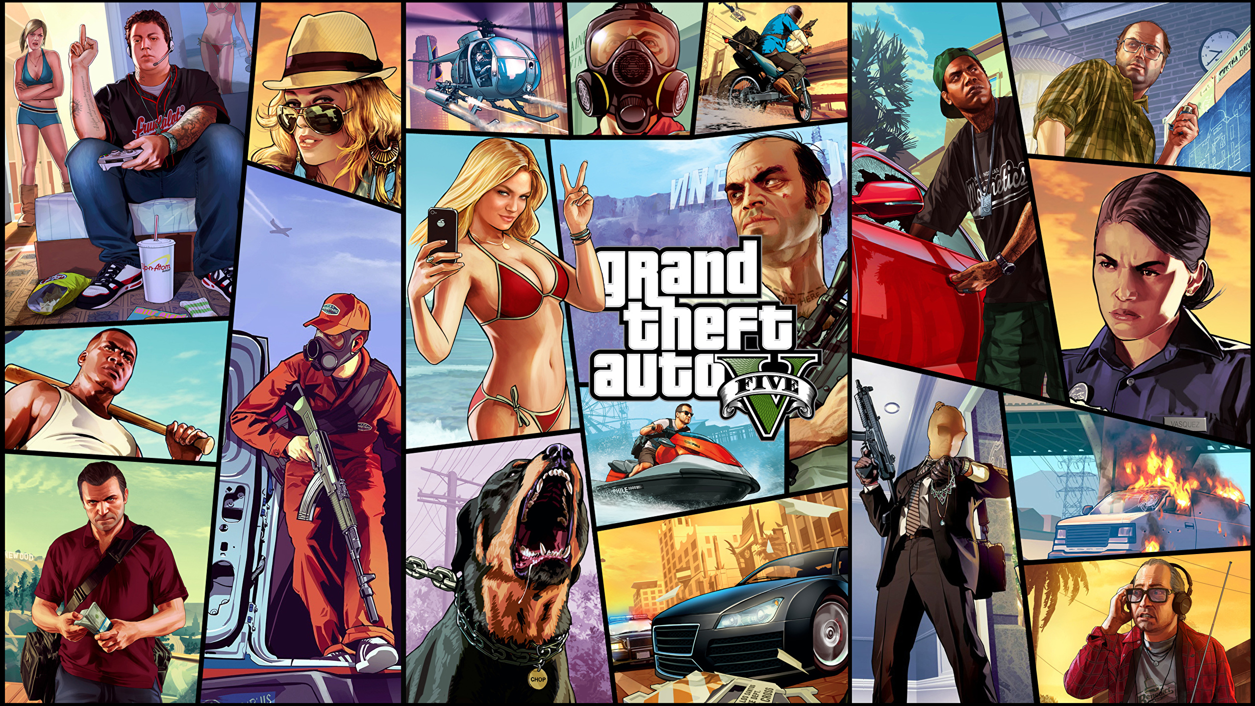 Picture GTA GTA 5 vdeo game Vector Graphics 2560x1440