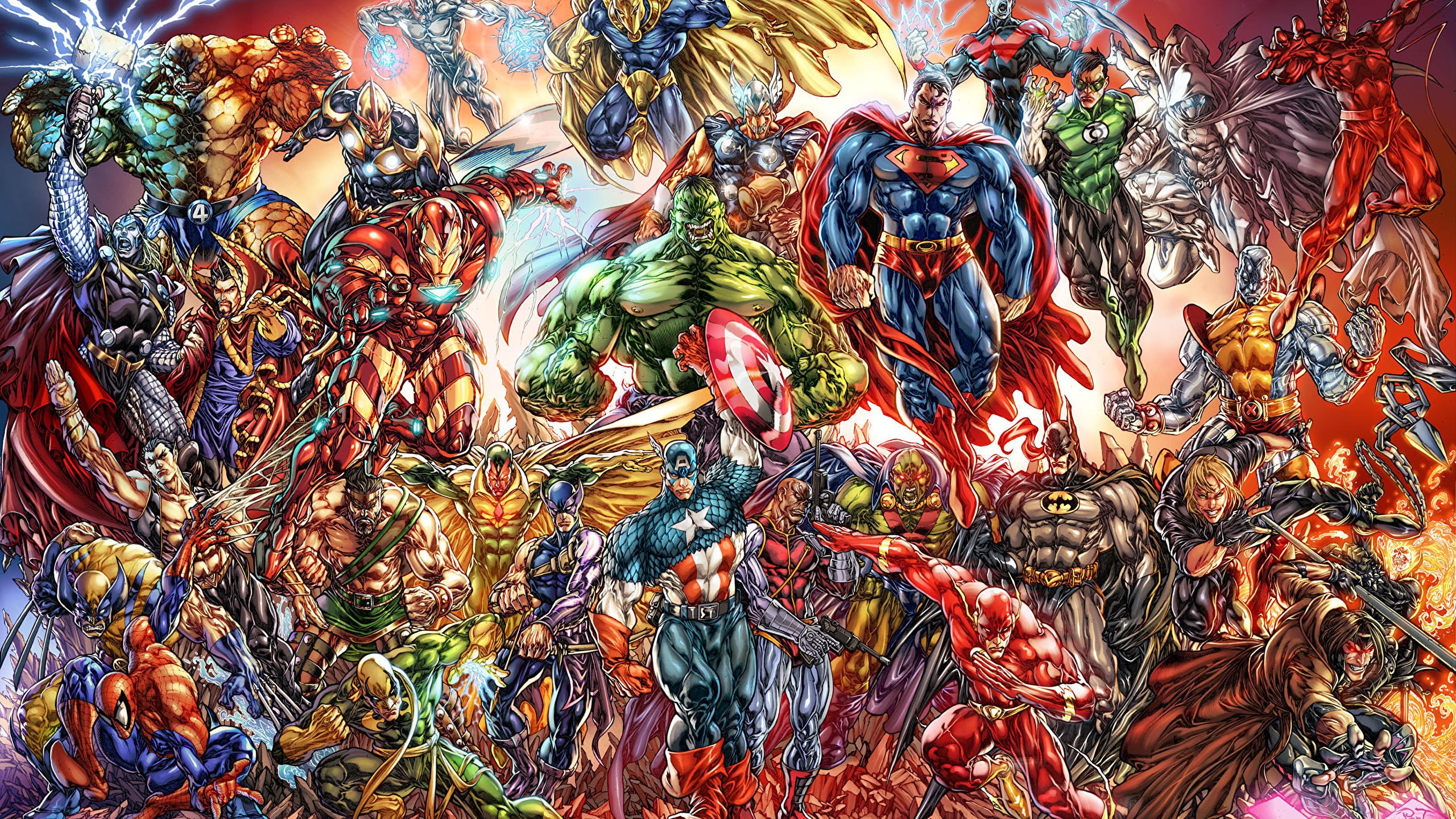 Pictures Superheroes Hulk Hero Thor Hero Superman Hero 2560x1440
