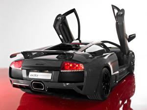 Bilder Lamborghini Schwarz Hinten