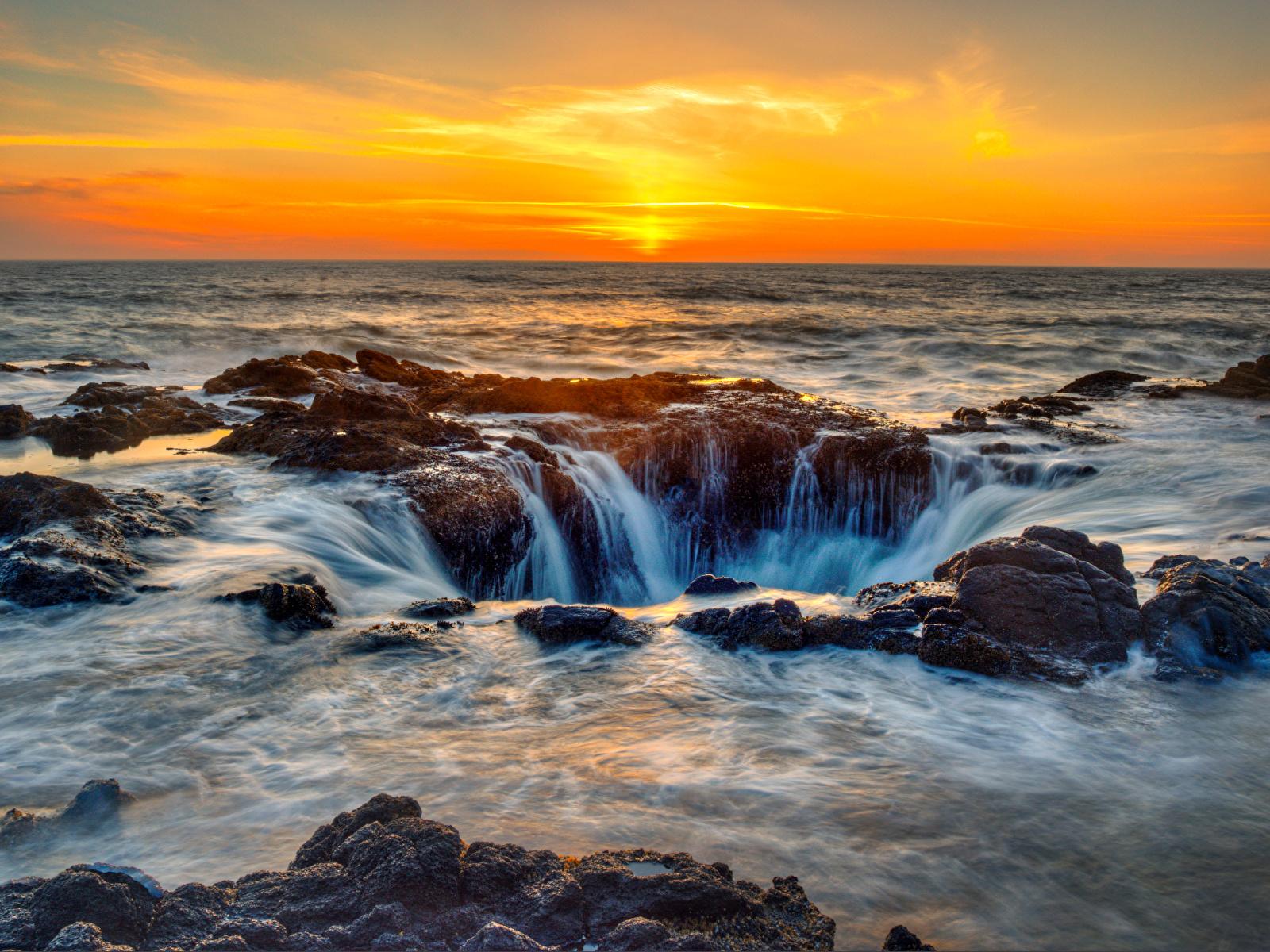 Foto Usa Oregon Mare Natura Paesaggio Albe E Tramonti 1600x1200