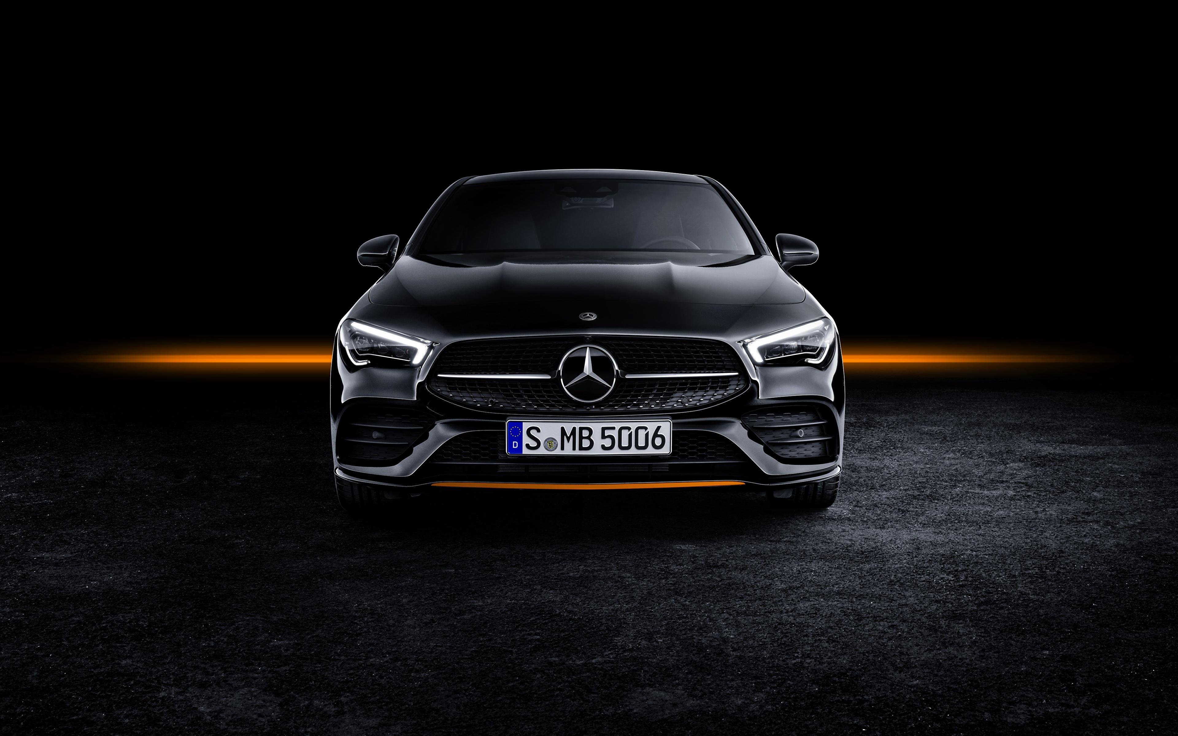Wallpaper Mercedes Benz Cla Amg Line 2019 Edition Orange