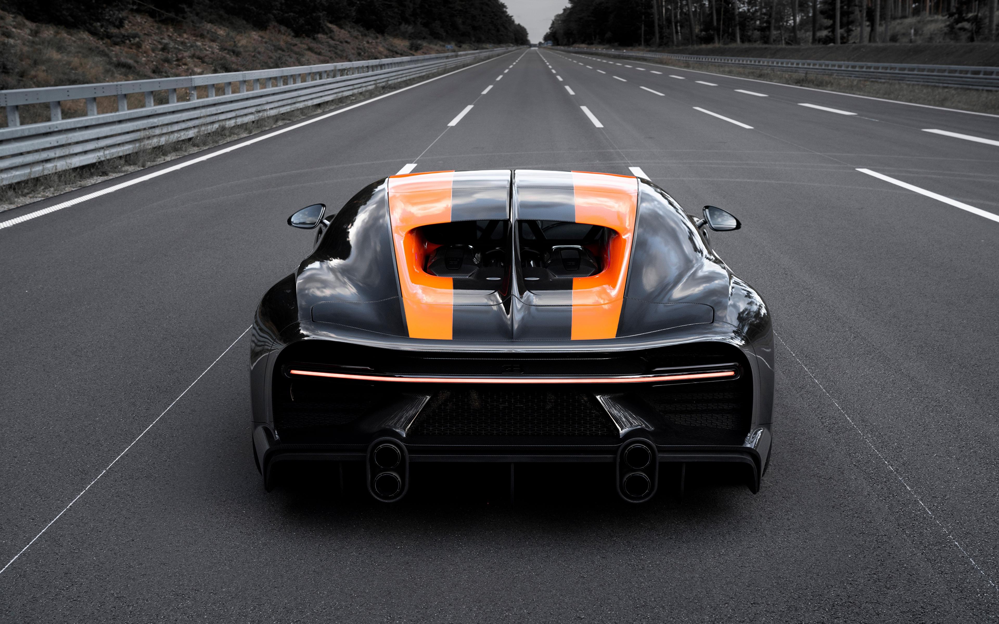 Picture Bugatti Chiron Super Sport 300 Roads Cars Back 3840x2400