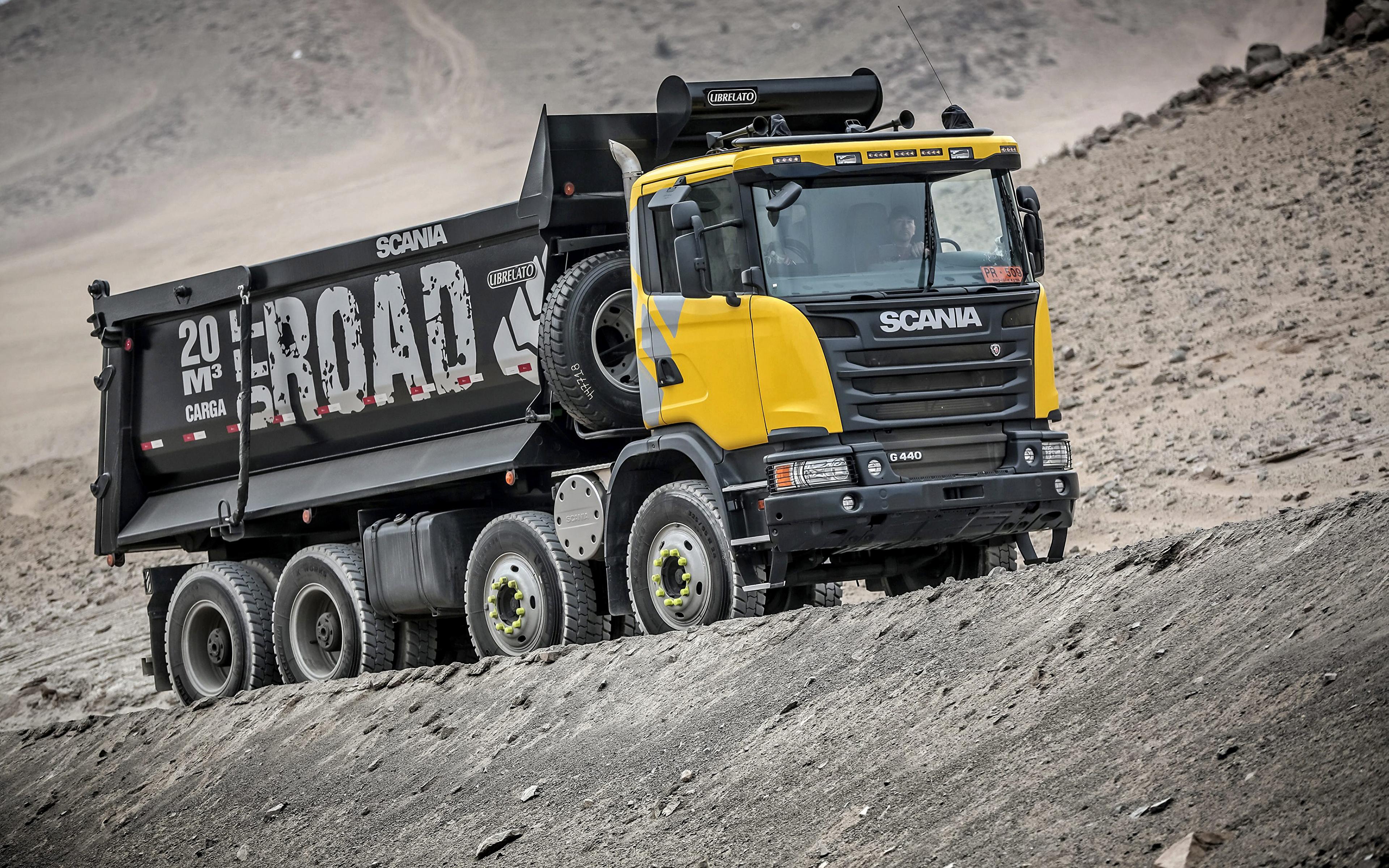 3840x2400 Camião Scania 8x4, G440, 2013 carro, automóvel, automóveis Carros