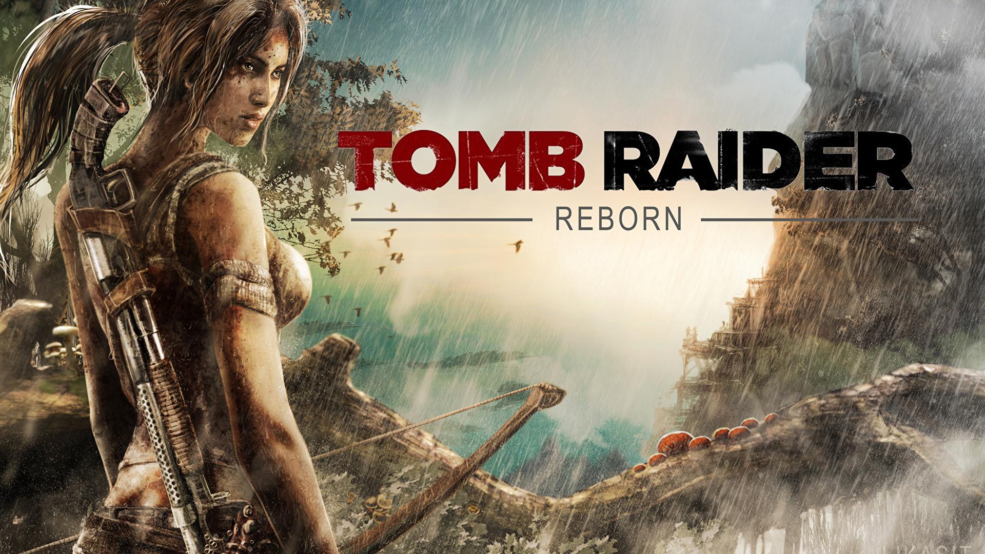 Images Tomb Raider 2013 Archers Lara Croft Female Vdeo 1920x1080