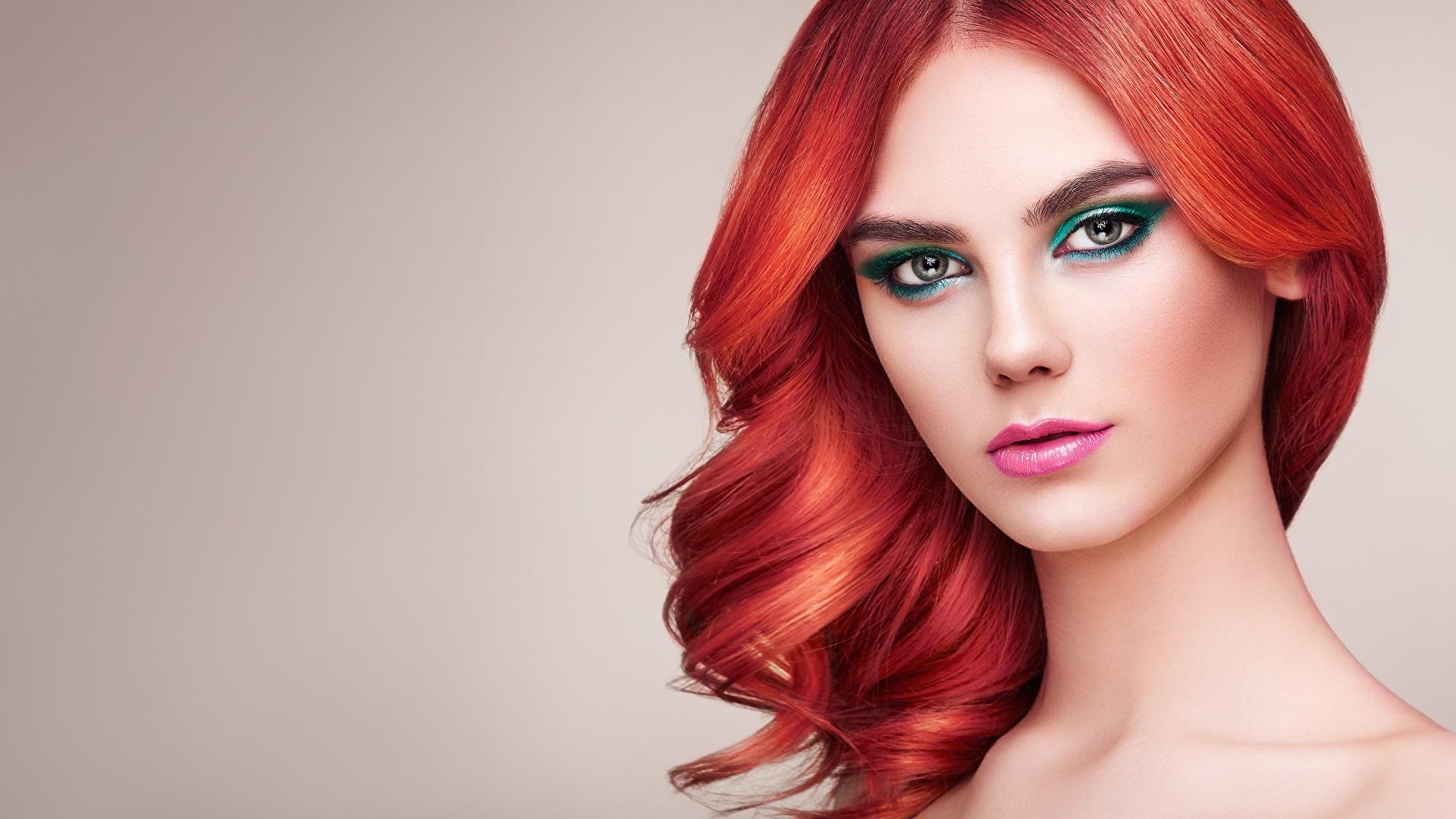 Picture Redhead Girl Makeup Oleg Gekman Beautiful Hair 1920x1080