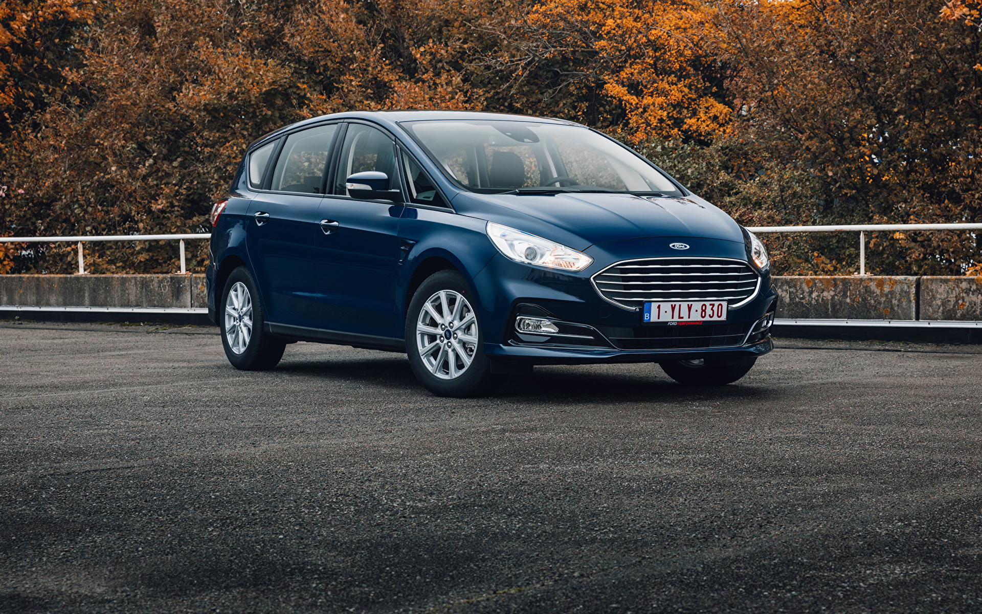 Foto Ford Kombi S-MAX, 2019-- Blau Autos Metallisch 1920x1200 auto automobil
