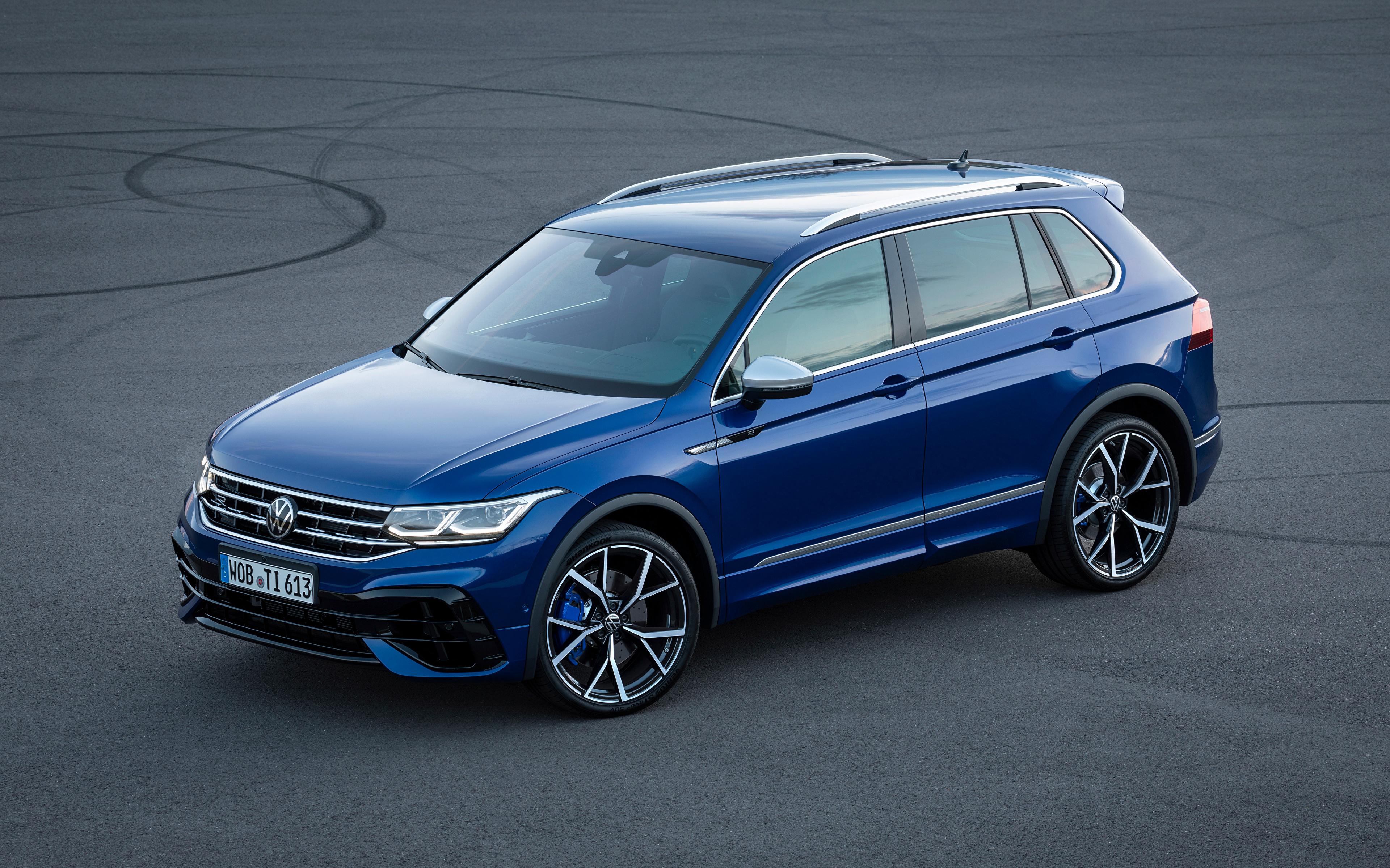 Fotos von Volkswagen Tiguan R, 2020 Blau Autos Metallisch 3840x2400 auto automobil