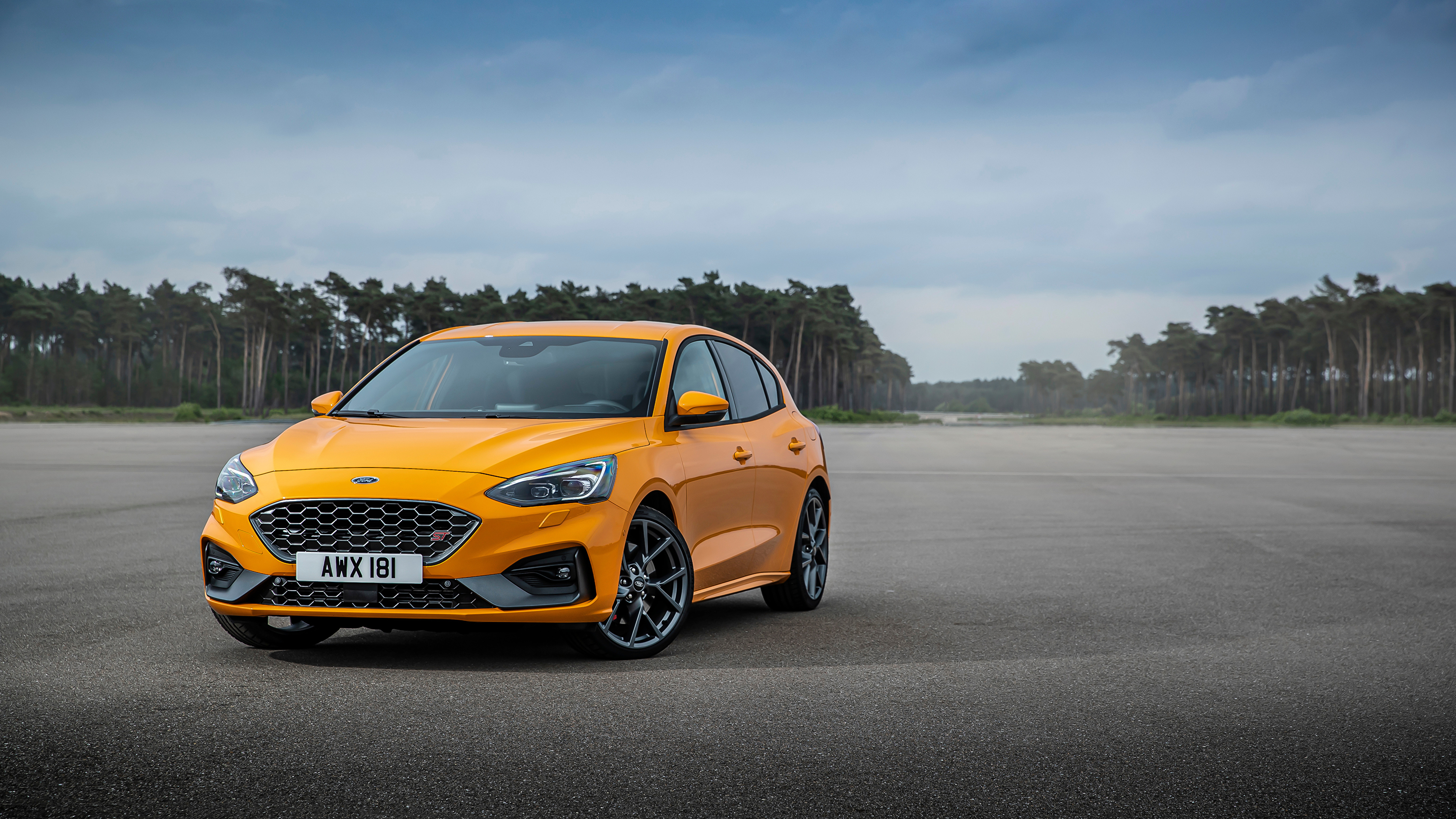 Wallpaper Ford Focus St Worldwide Orange Cars Metallic 3840x2160