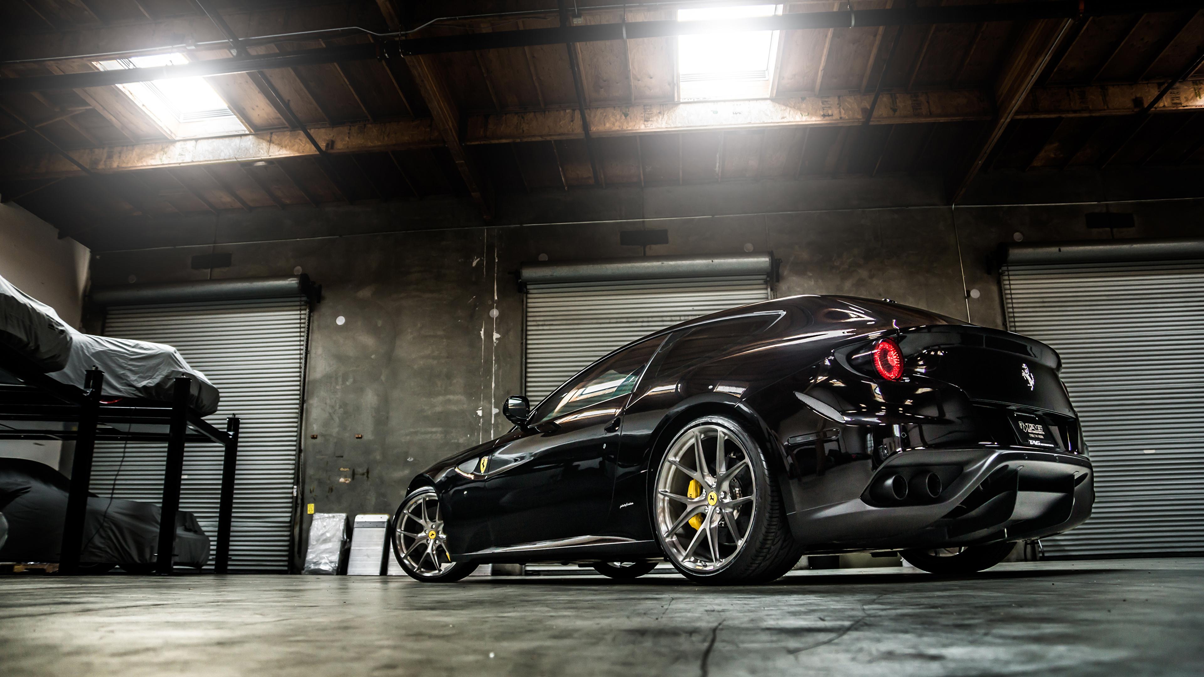 Image Ferrari Ff Black Cars 3840x2160