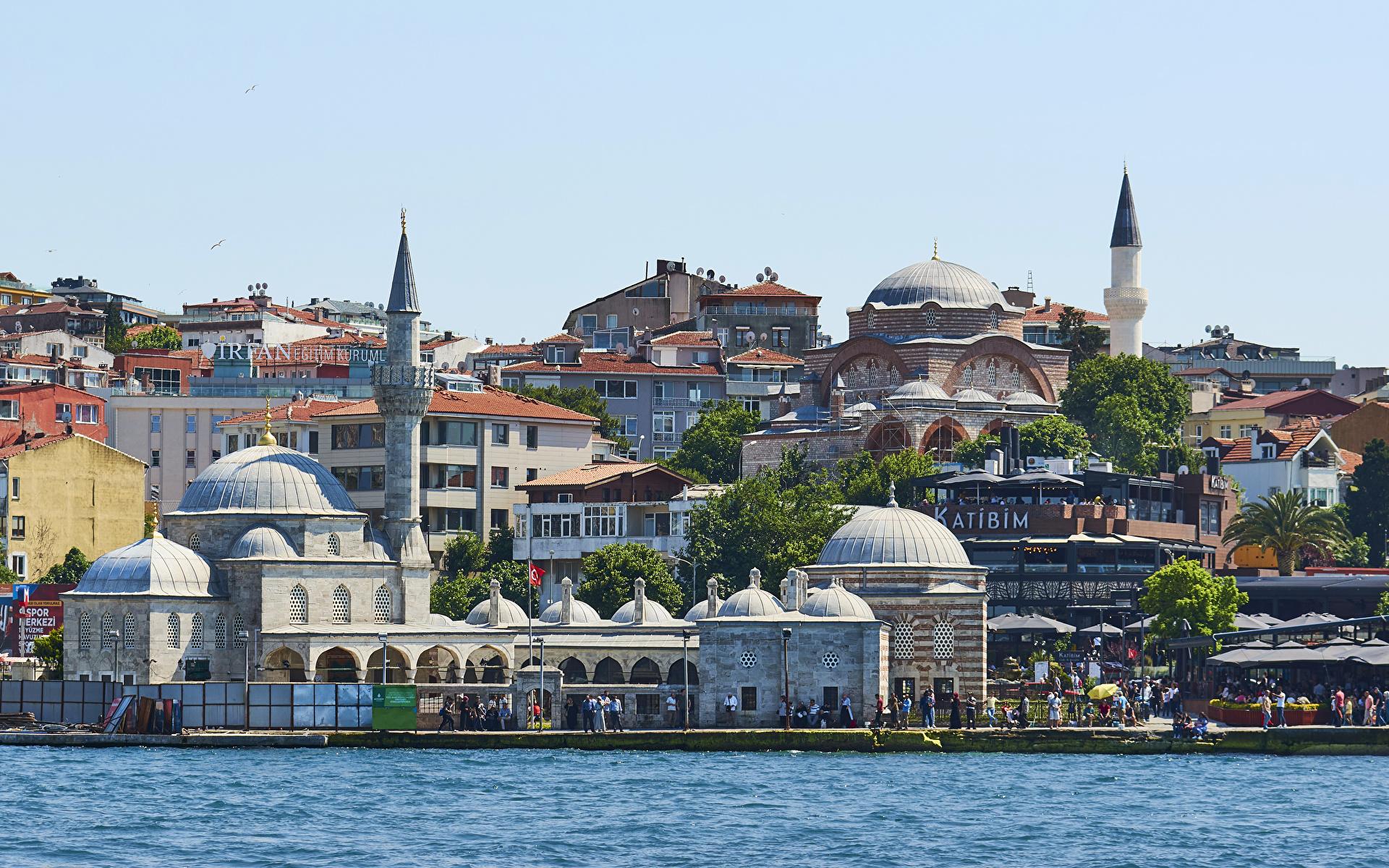 Bilder von Istanbul Türkei Küste Städte Gebäude 1920x1200 Haus