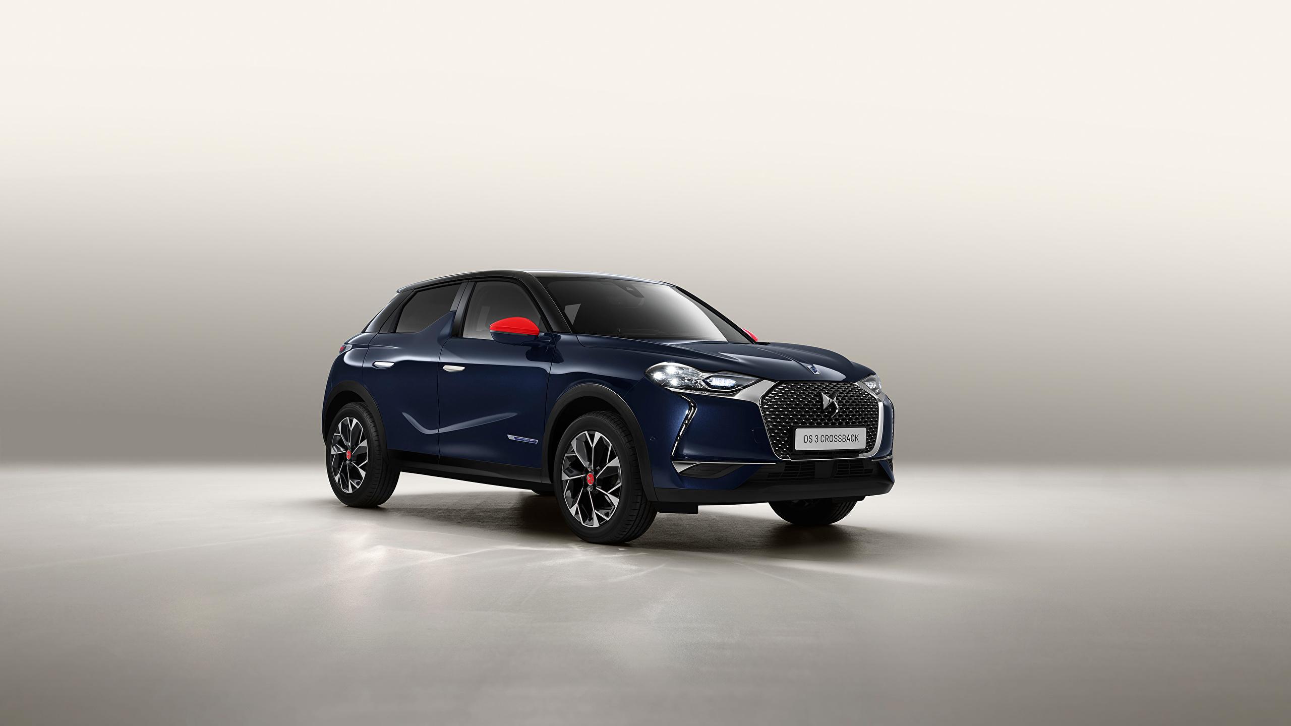 Fotos Französischer Crossover DS 3 Crossback, 2020 Blau auto Metallisch 2560x1440 französische französisches Softroader Autos automobil