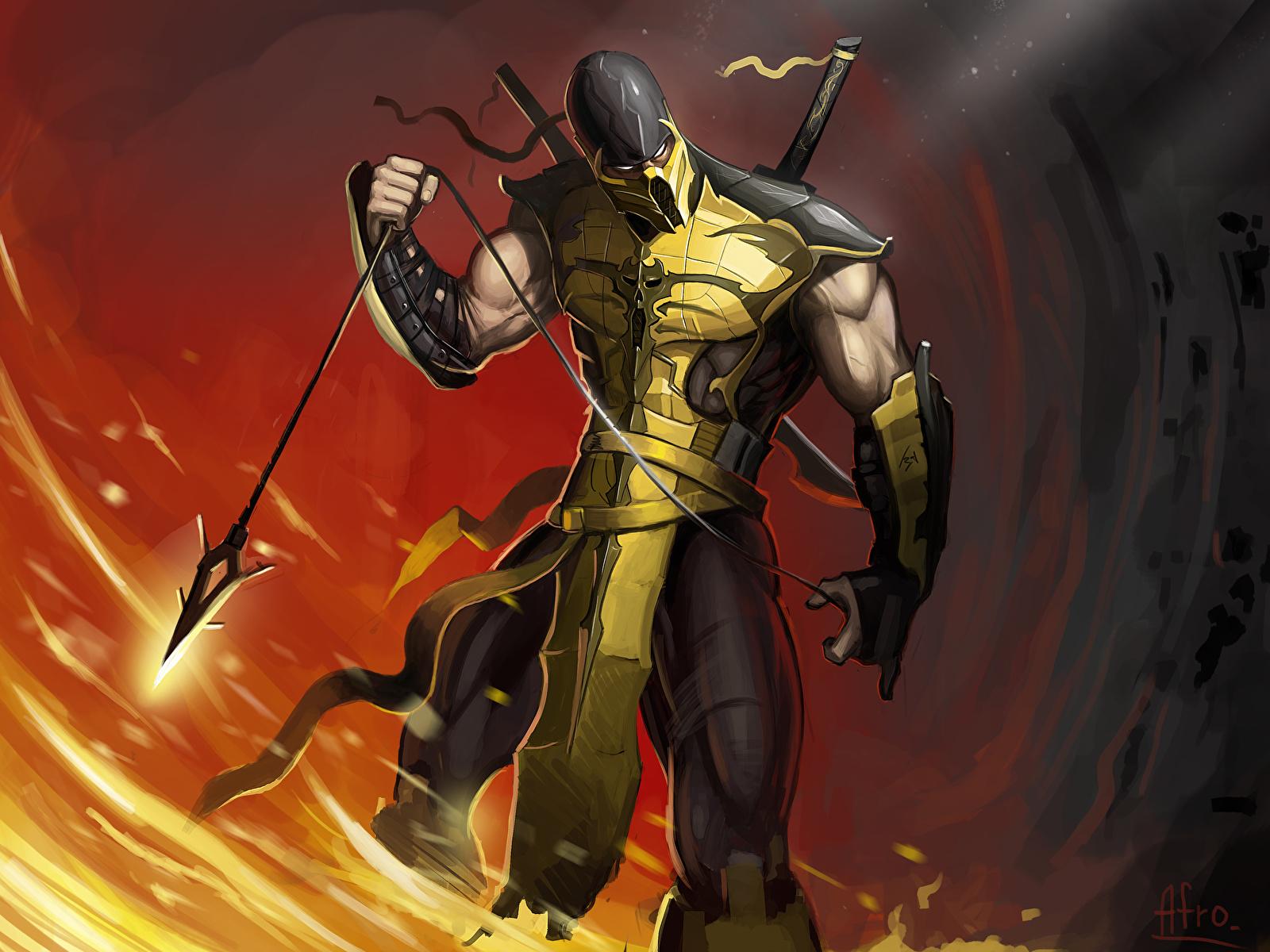 Picture Mortal Kombat Ninja Warrior Scorpion Fantasy Vdeo
