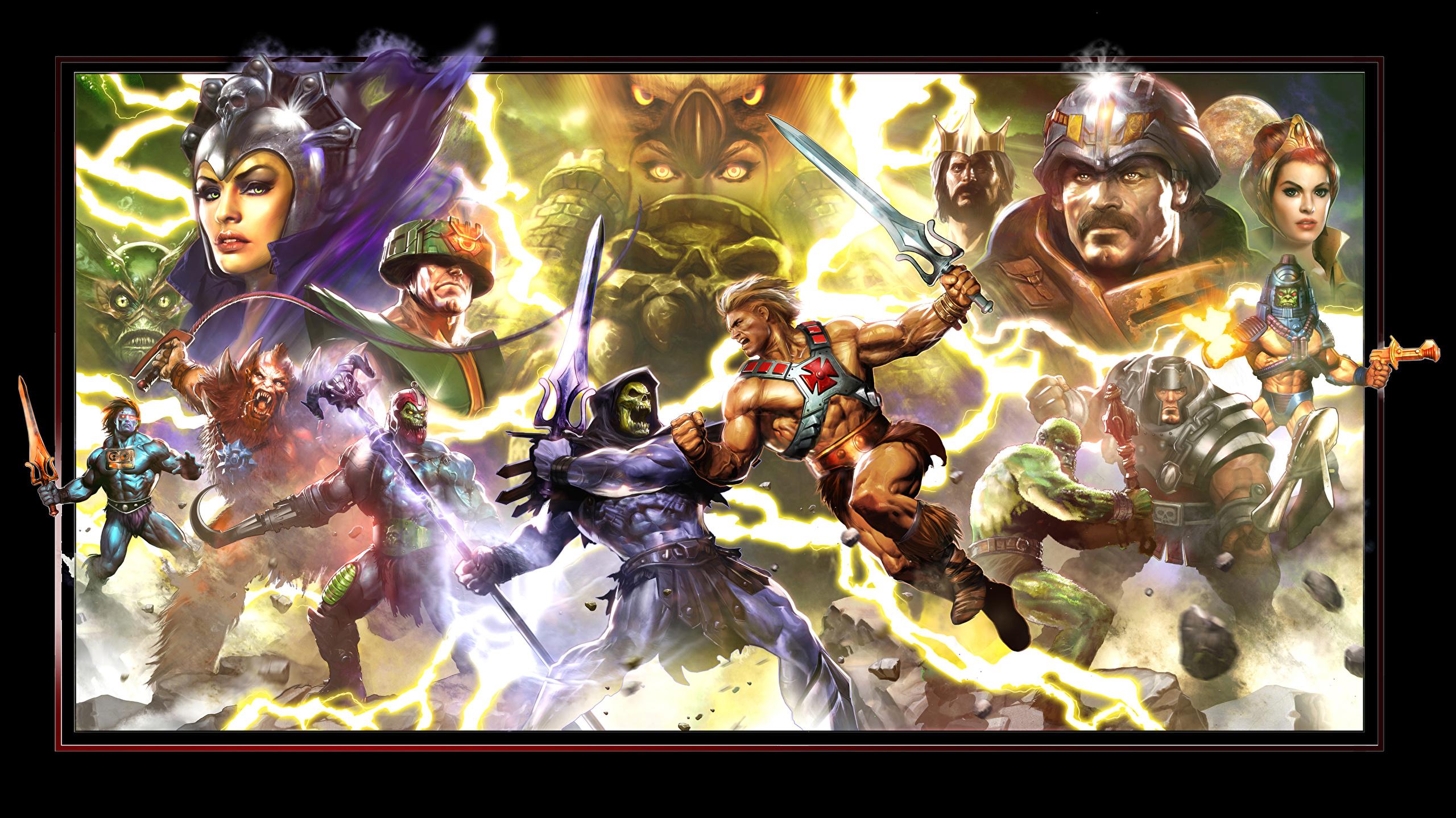 Image Swords Superheroes Monster Warrior He Man Skeletor 2560x1440