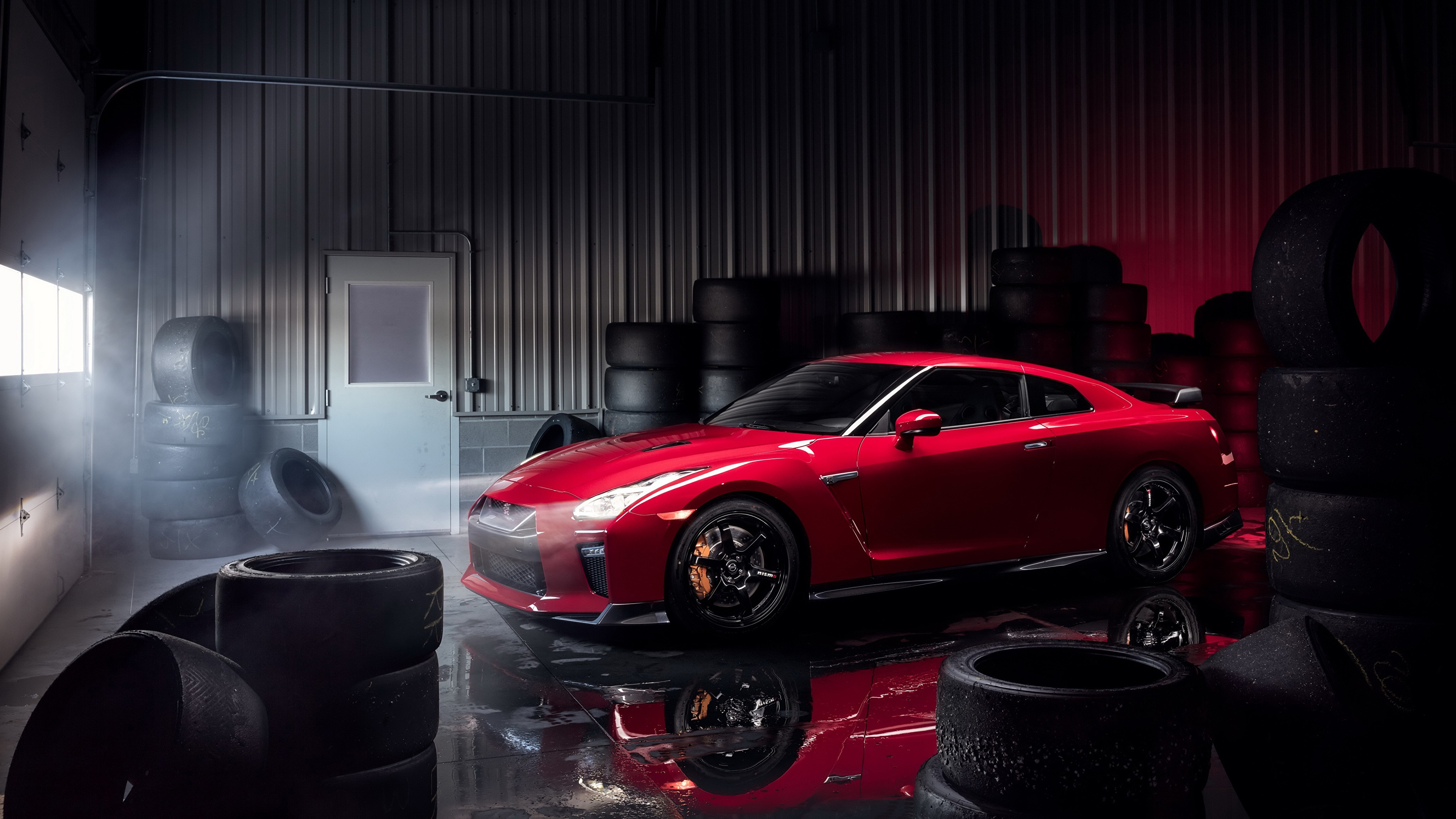Picture Nissan GT-R Track Edition 2017 Garage Red Metallic 3840x2160