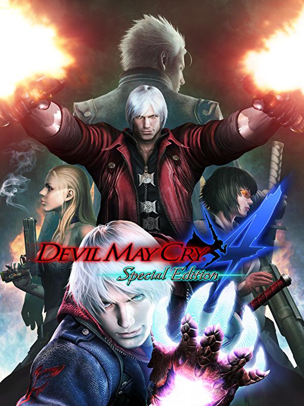 Desktop Wallpapers Dante Devil May Cry 4 Firing Pistols Man