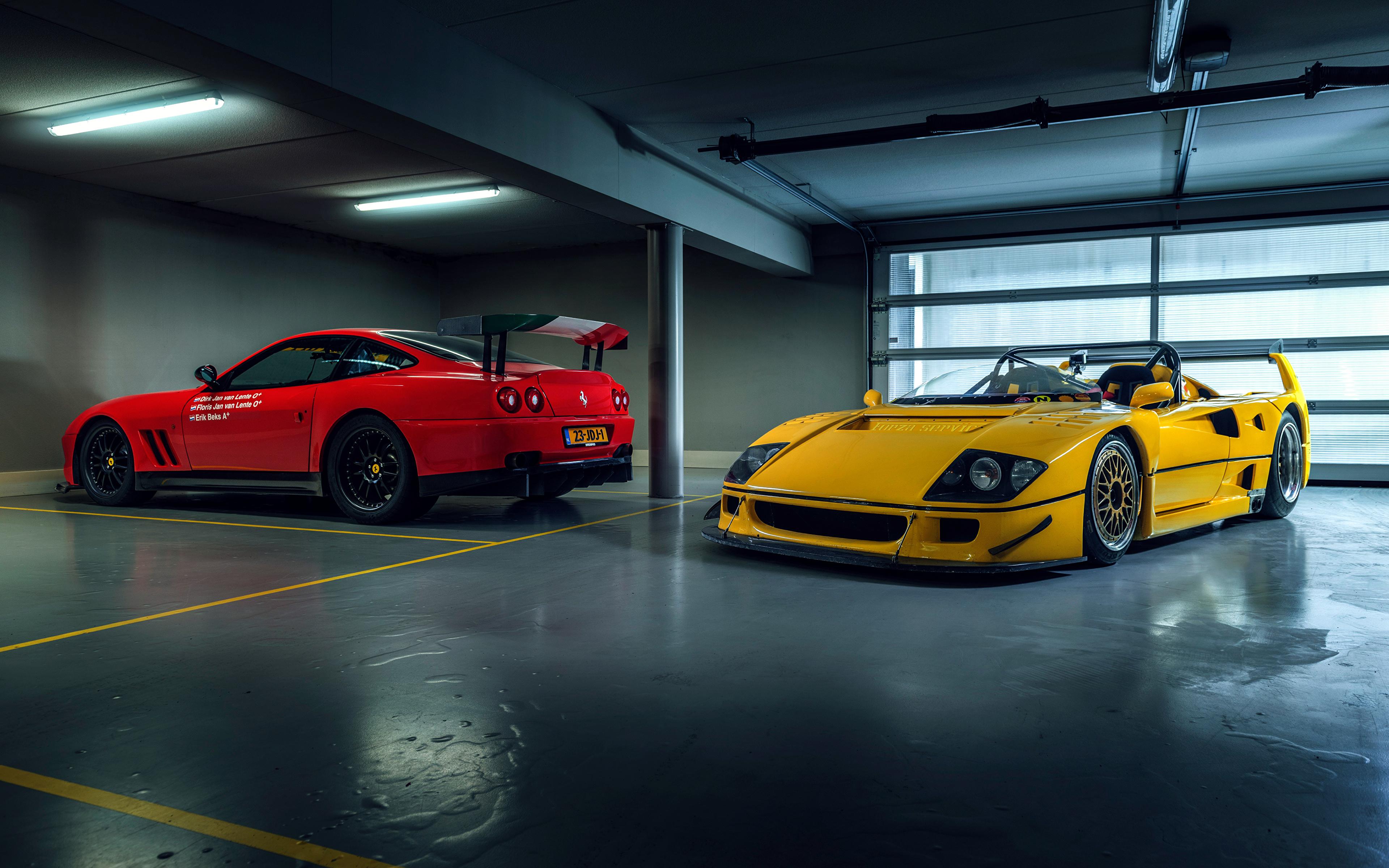 Papeis De Parede 3840x2400 Ferrari F40 Lm Barchetta By Michelotto Prodrive 550 Gto Maranello Dois Carros Baixar Imagens