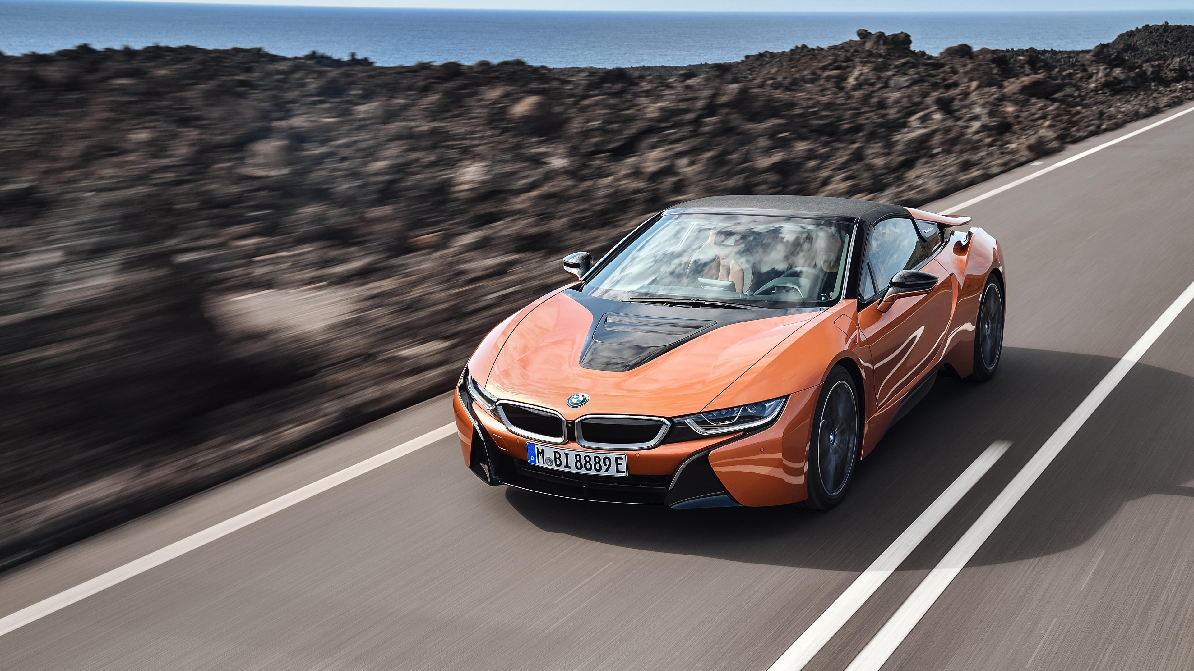 Photos Bmw I8 2018 Roadster Orange Motion Auto 3840x2160