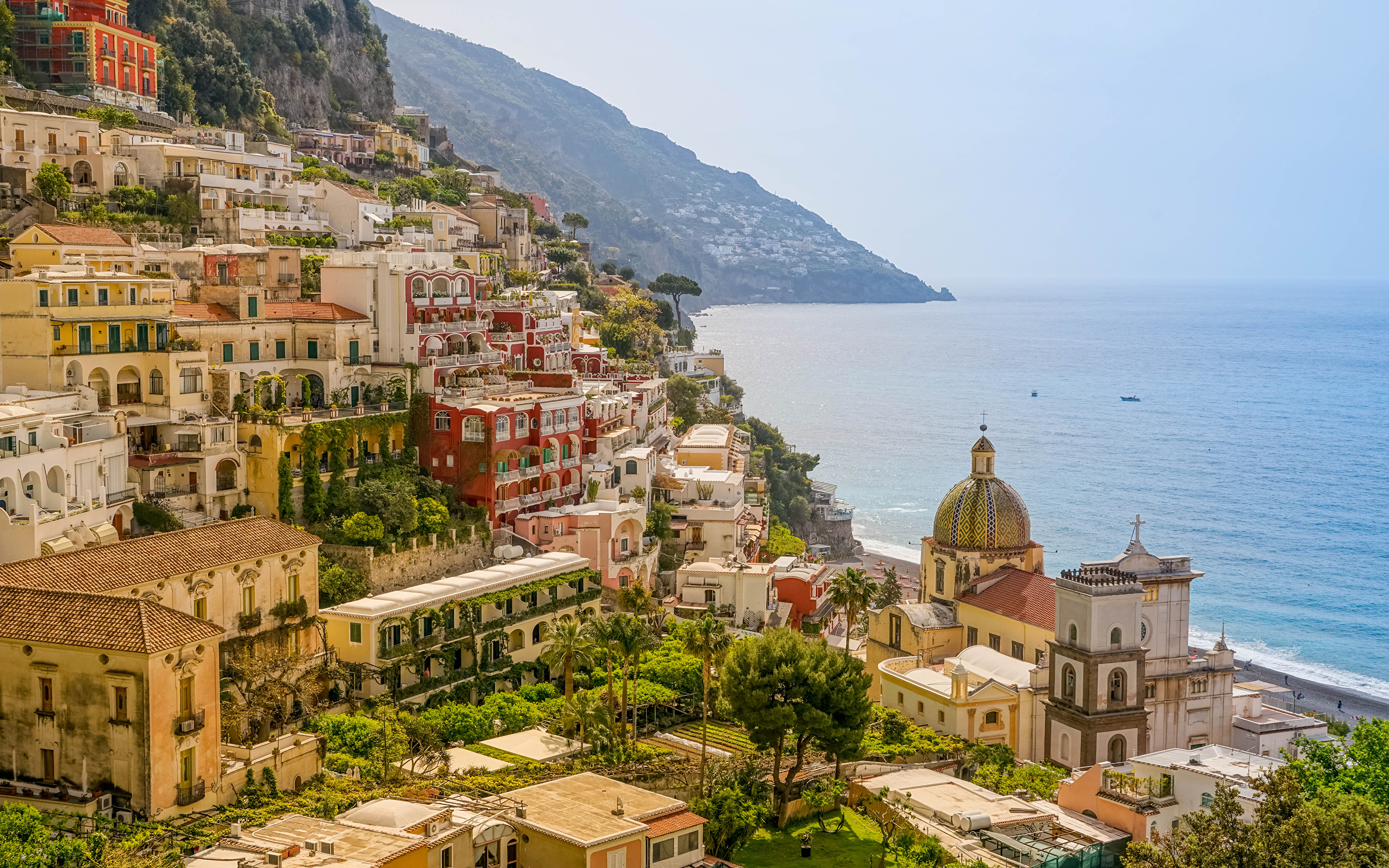 Photos Amalfi Positano Italy Coast Cities Houses 3840x2400