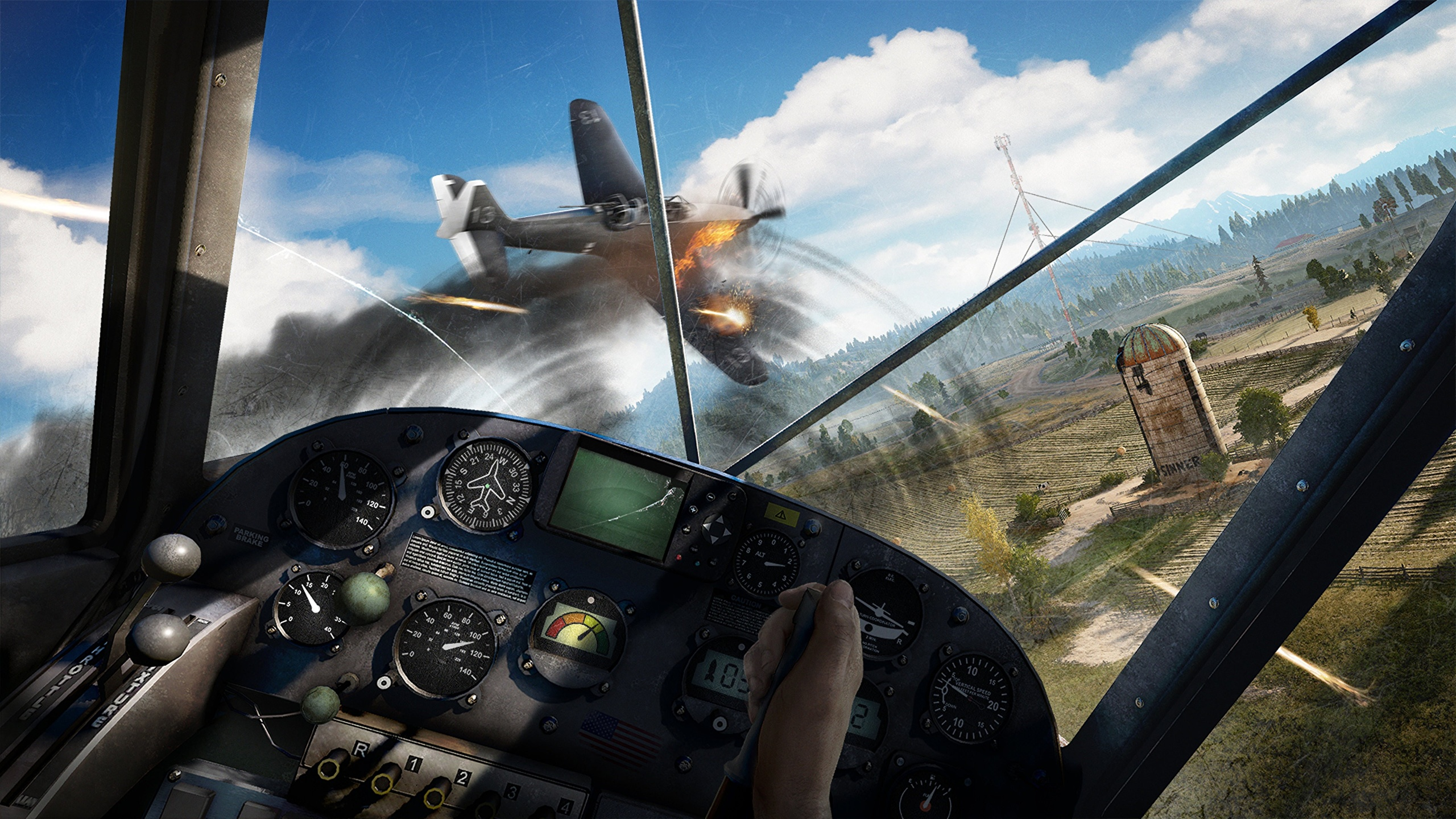 Pictures Far Cry 5 Airplane Cockpit Games Flight 2560x1440