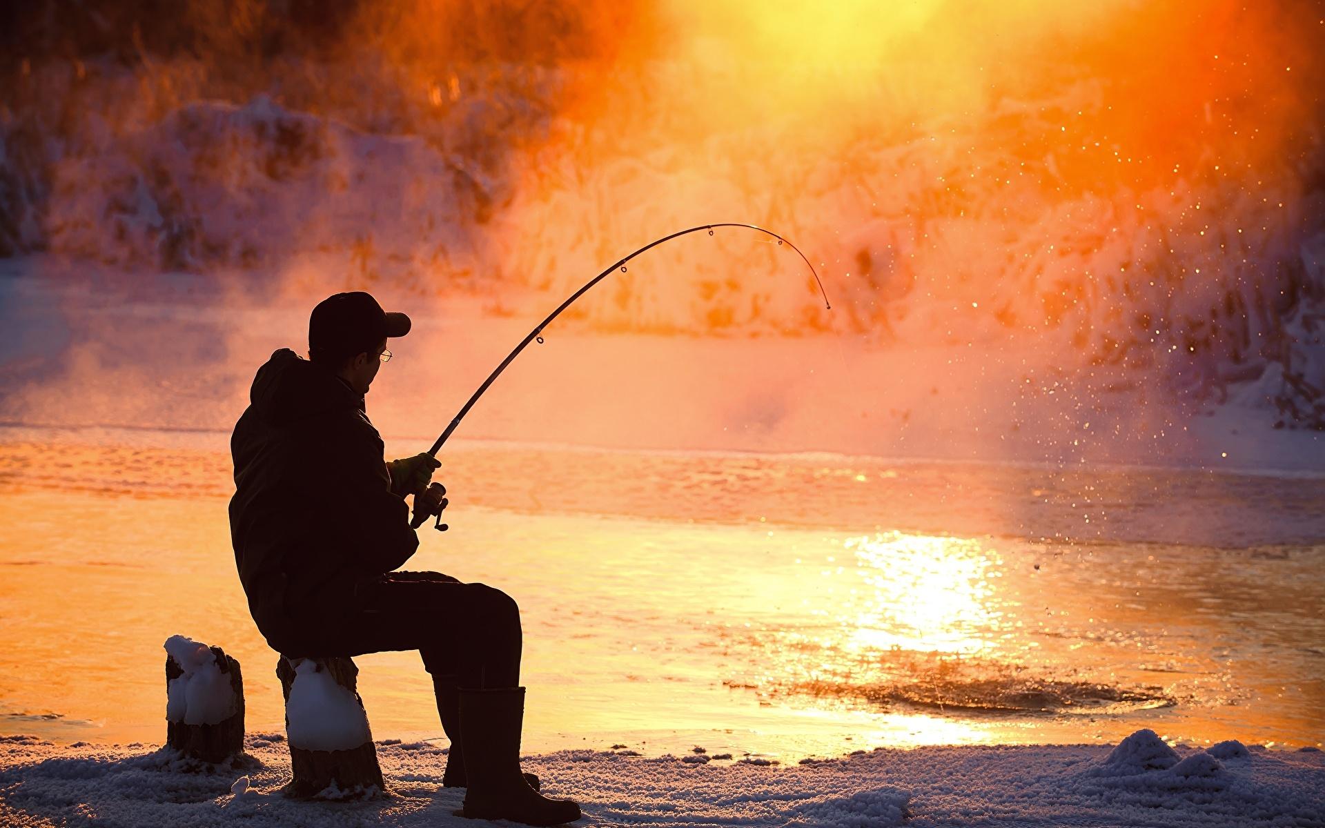 Bilder von Mann Fischerei Dampf Sitzend 1920x1200