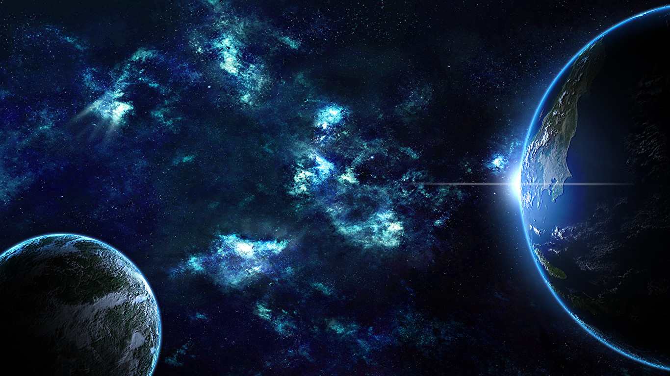 Hd Real Face Wallpaper Desktop 1366 X 768: Fondos De Pantalla 1366x768 Planetas Tierra Сosmos