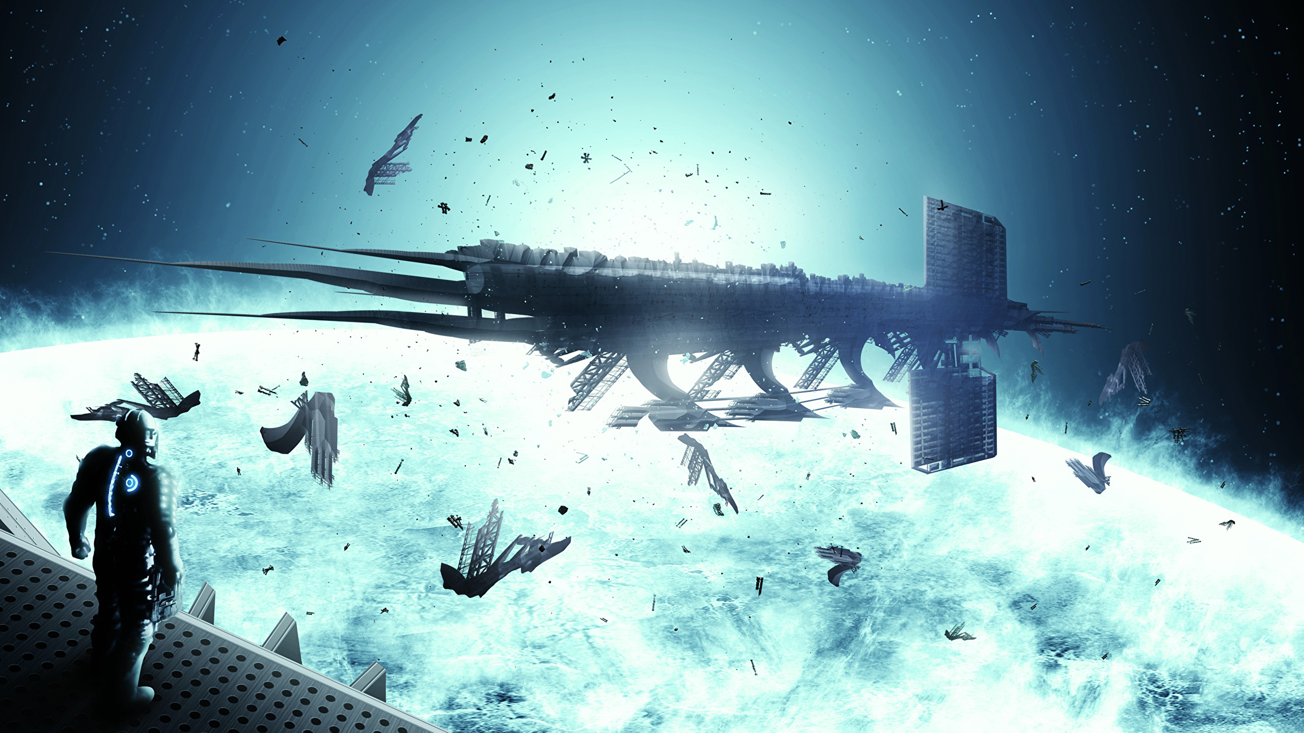 Images Dead Space 3 Space Fantasy Ships Games 2560x1440