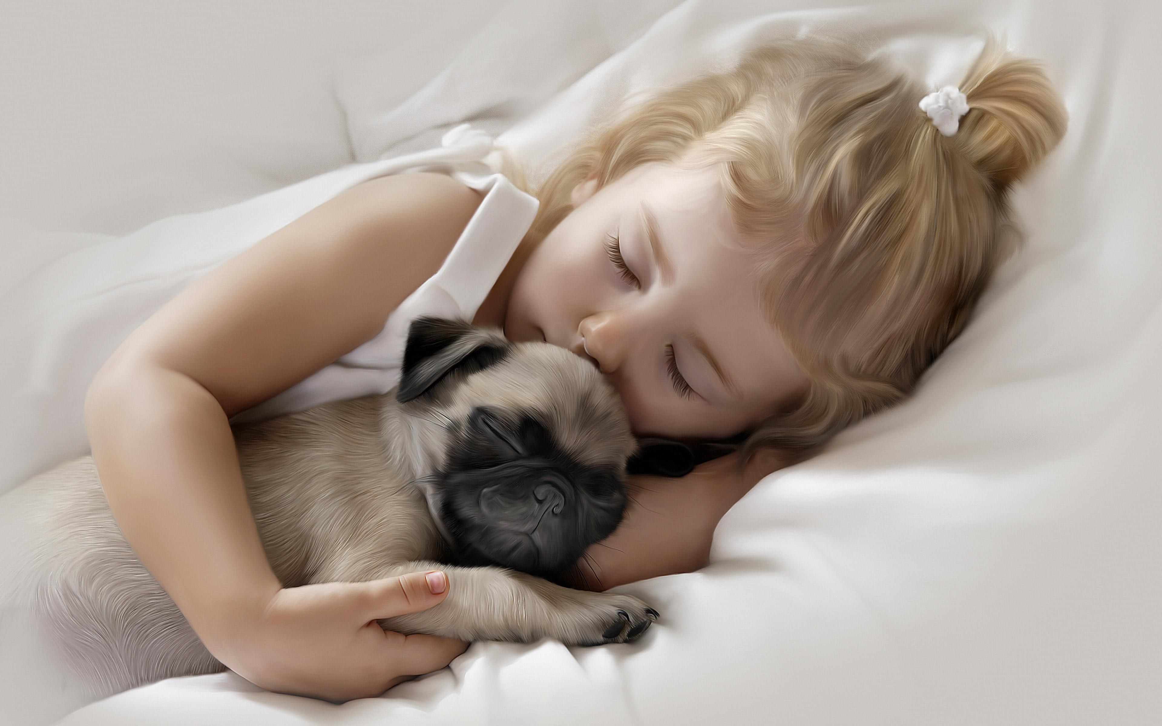 https://s1.1zoom.me/b5050/764/Dogs_Pug_Two_Sleep_Little_girls_Cute_520471_3840x2400.jpg