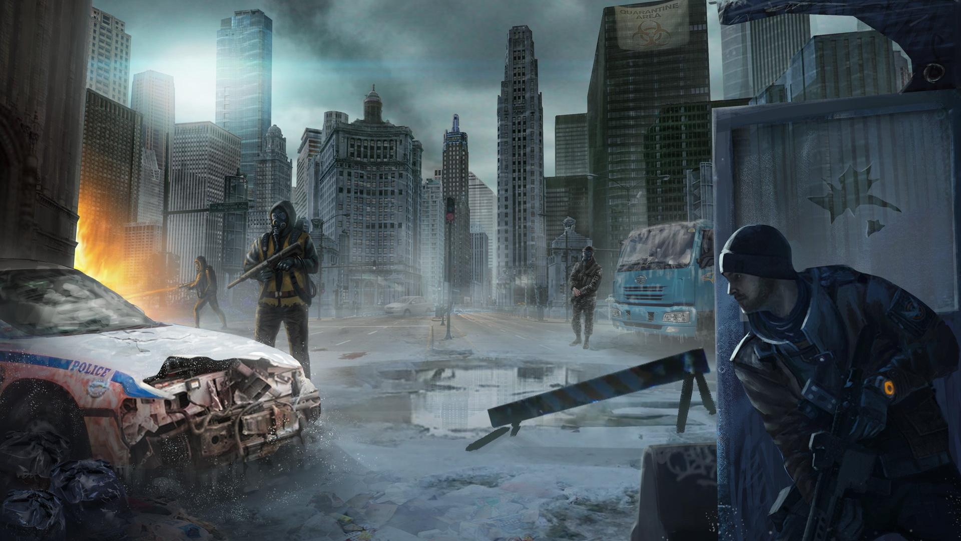 壁紙 19x1080 兵 トム クランシー 超高層建築物 The Division ゲーム ダウンロード 写真