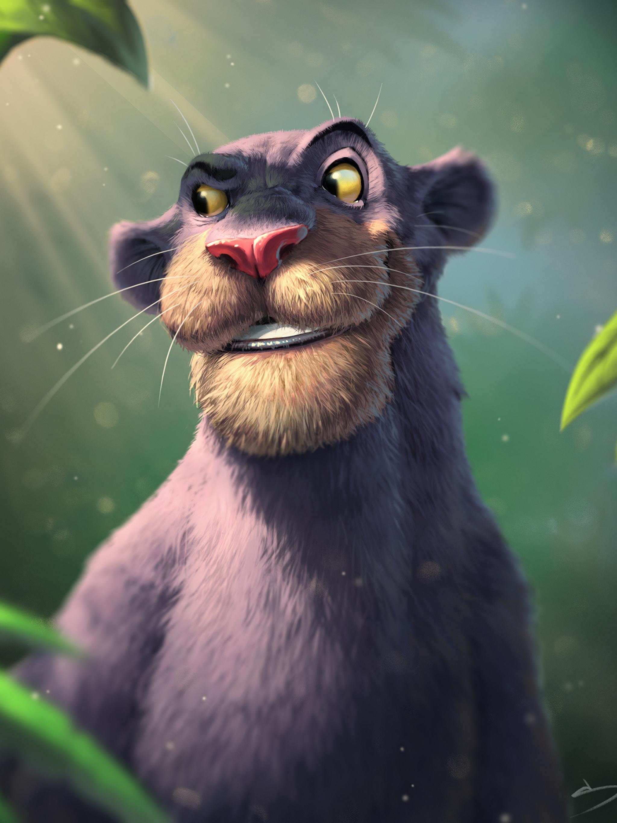 Bilder von Schwarzer Panther The Jungle Book, Bagheera Animationsfilm 2048x2732 Zeichentrickfilm