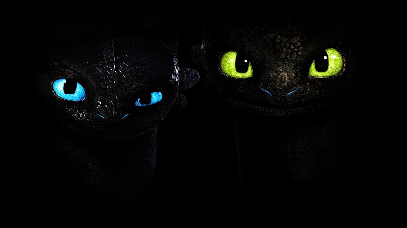 壁紙 1366x768 ヒックとドラゴン 映画 凝視 黒色背景 漫画 ダウンロード 写真
