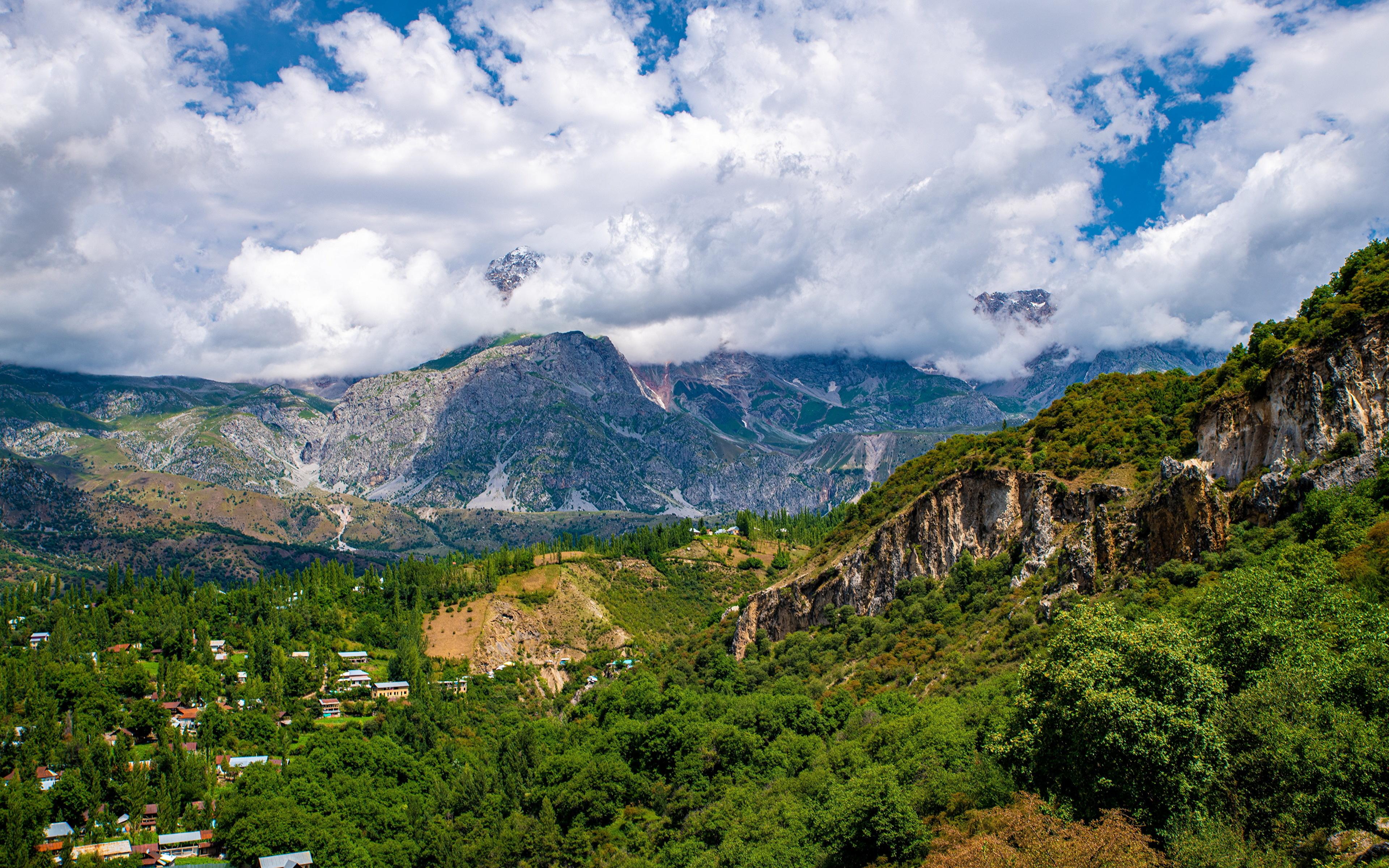 Fotos Arslanbob, Kyrgyzstan Natur Gebirge Wolke 3840x2400 Berg