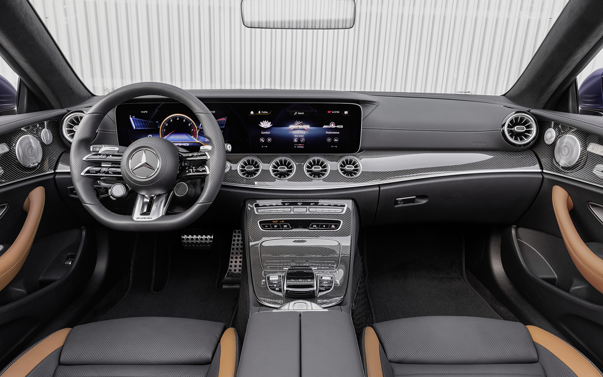 Foto Salons Mercedes-Benz Lenkrad E 53 4MATIC, Cabrio Worldwide, A238, 2020 Cabriolet Autos 1920x1200 auto automobil