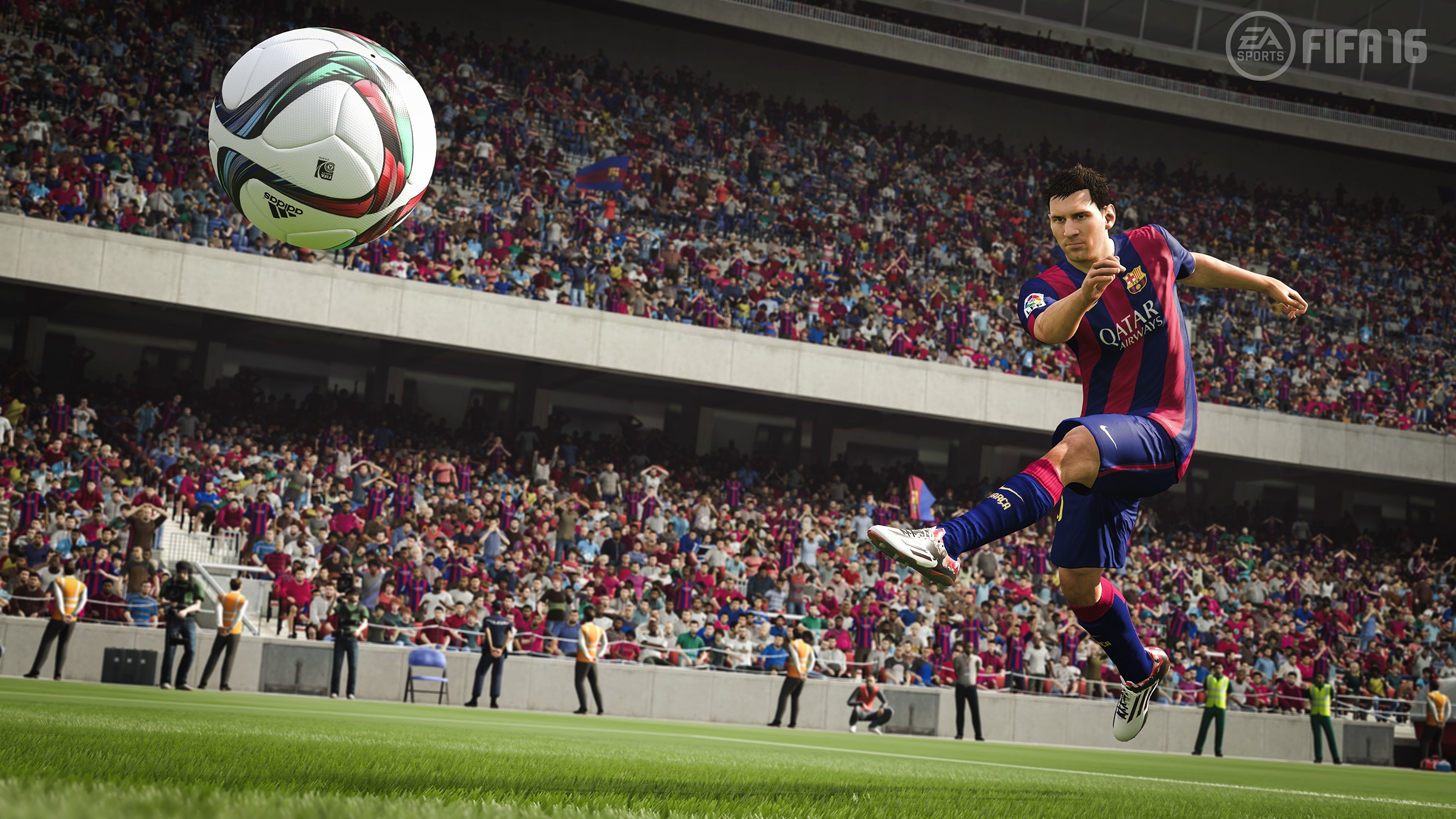 Picture Lionel Messi To hit Fifa 16 barca Footbal 3D 3840x2160