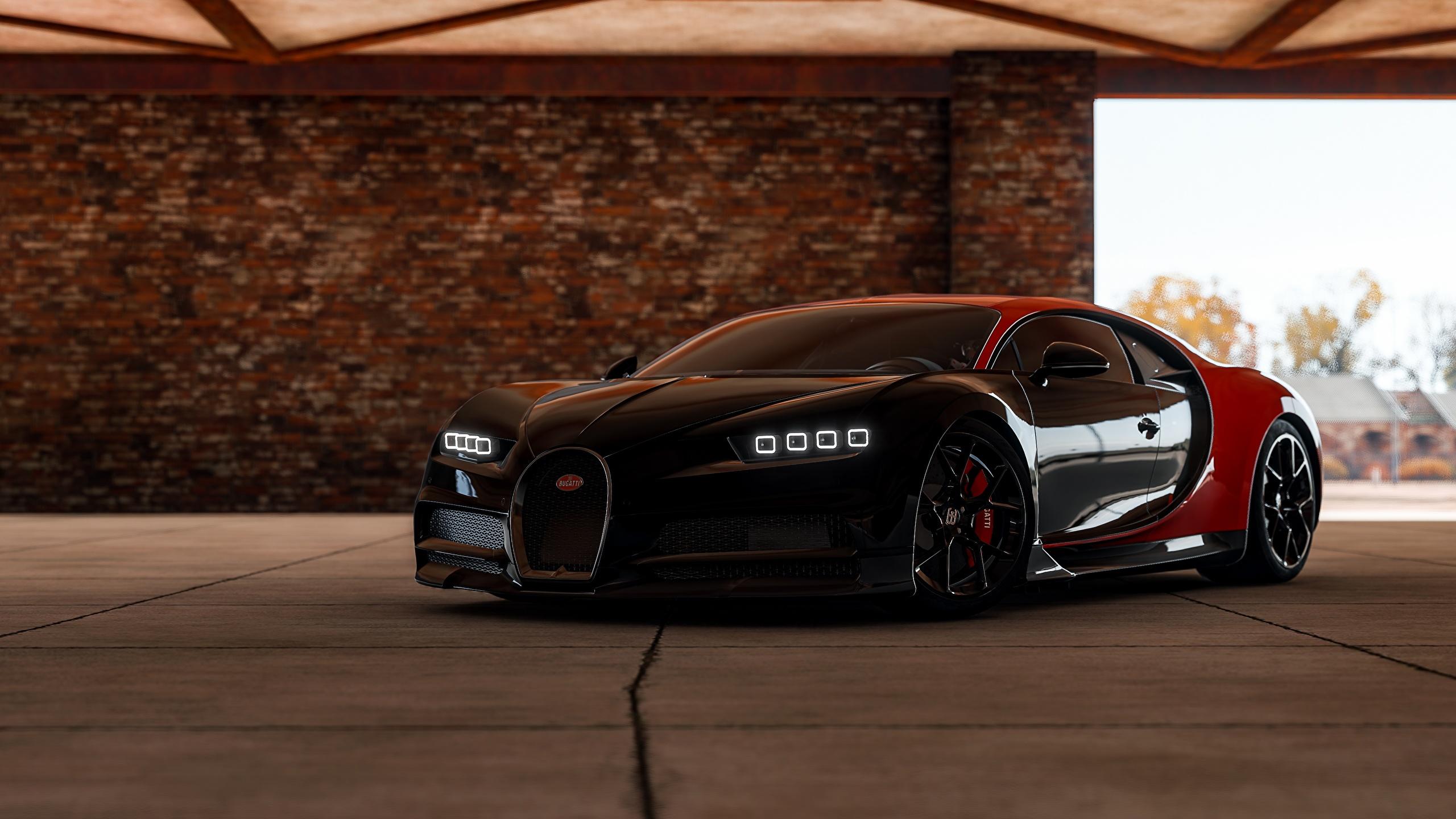 Picture 3d Graphics Bugatti Chiron Automobile Forza 2560x1440