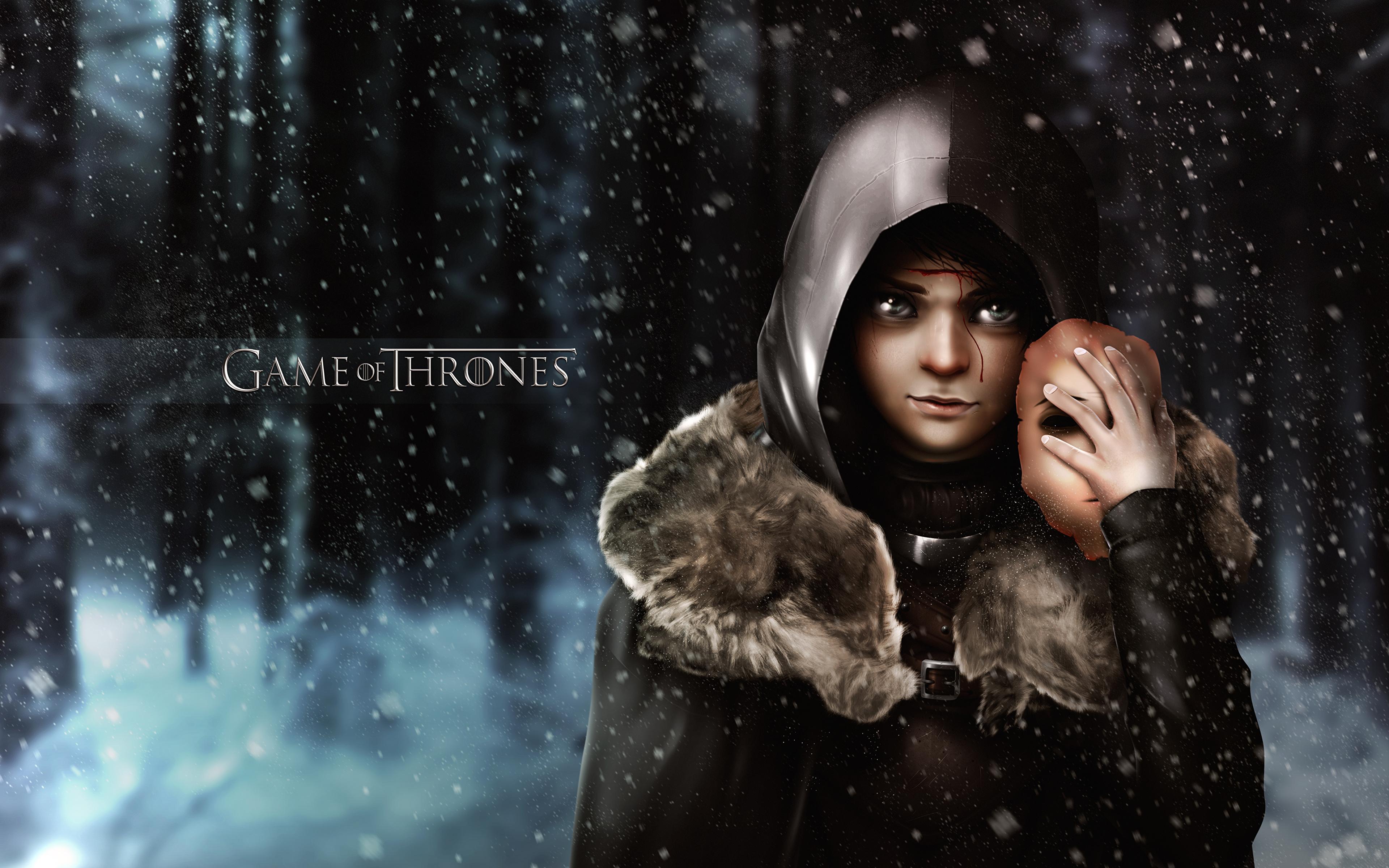 Foto Game Of Thrones Arya Stark Film Kapuze 3840x2400