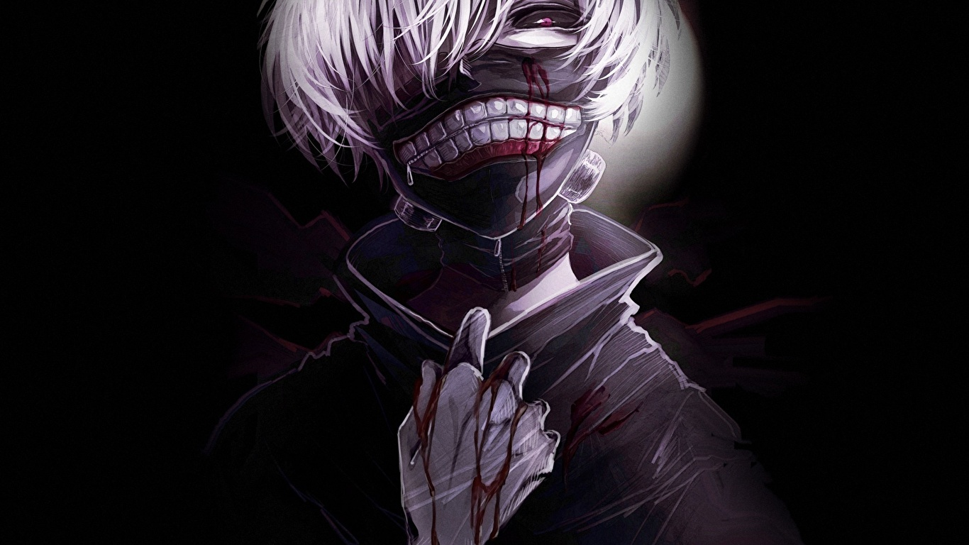 Fondos De Pantalla 1366x768 Tokyo Ghoul Máscara Ken Kaneki
