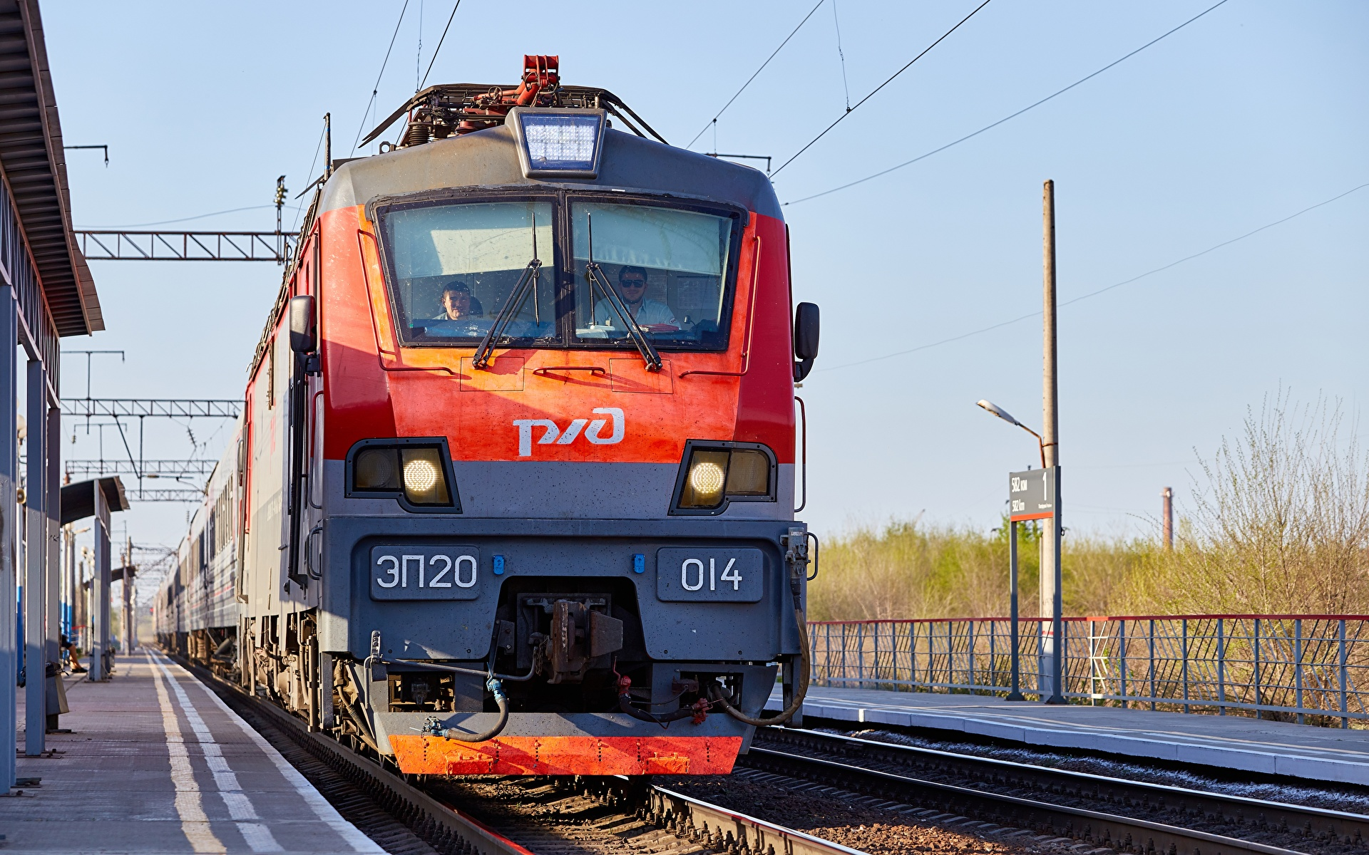 Fotos von Loks Russische Züge Vorne 1920x1200 Lokomotive