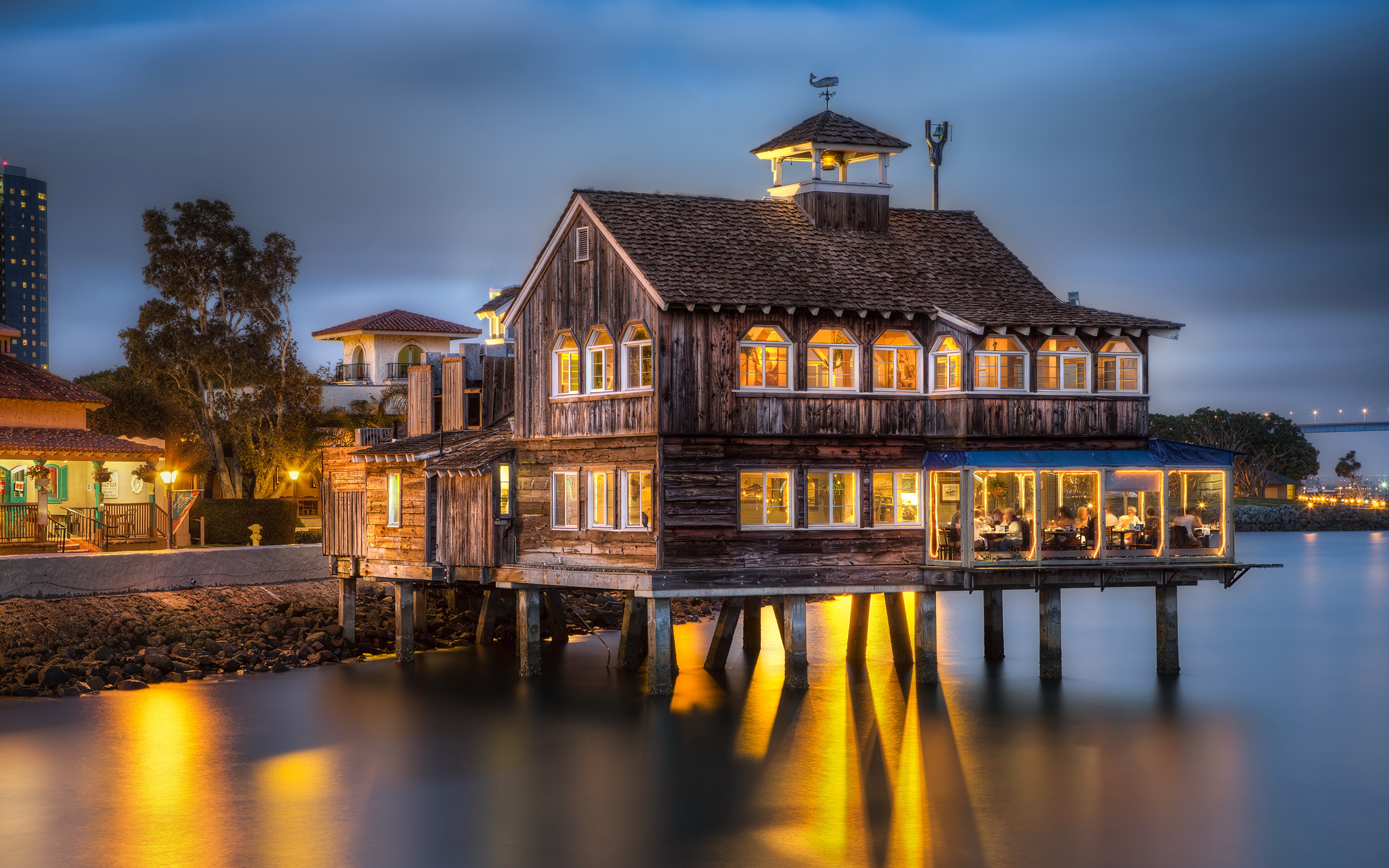 Images San Diego California USA HDRI from wood Cities 3840x2400