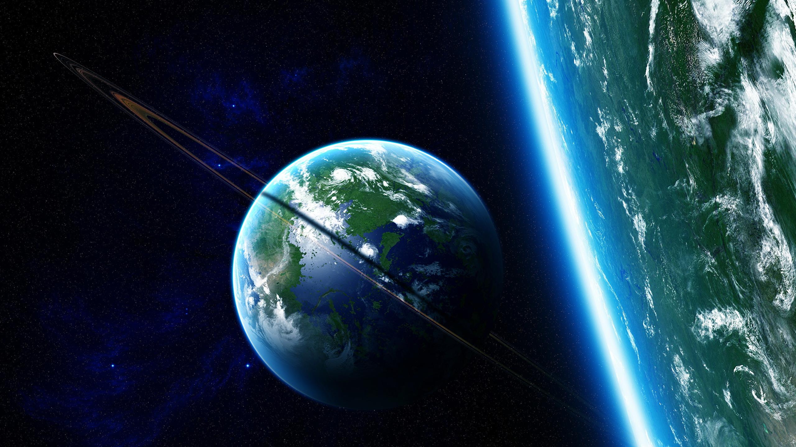 Fonds Decran 2560x1440 La Surface De La Planète Planètes