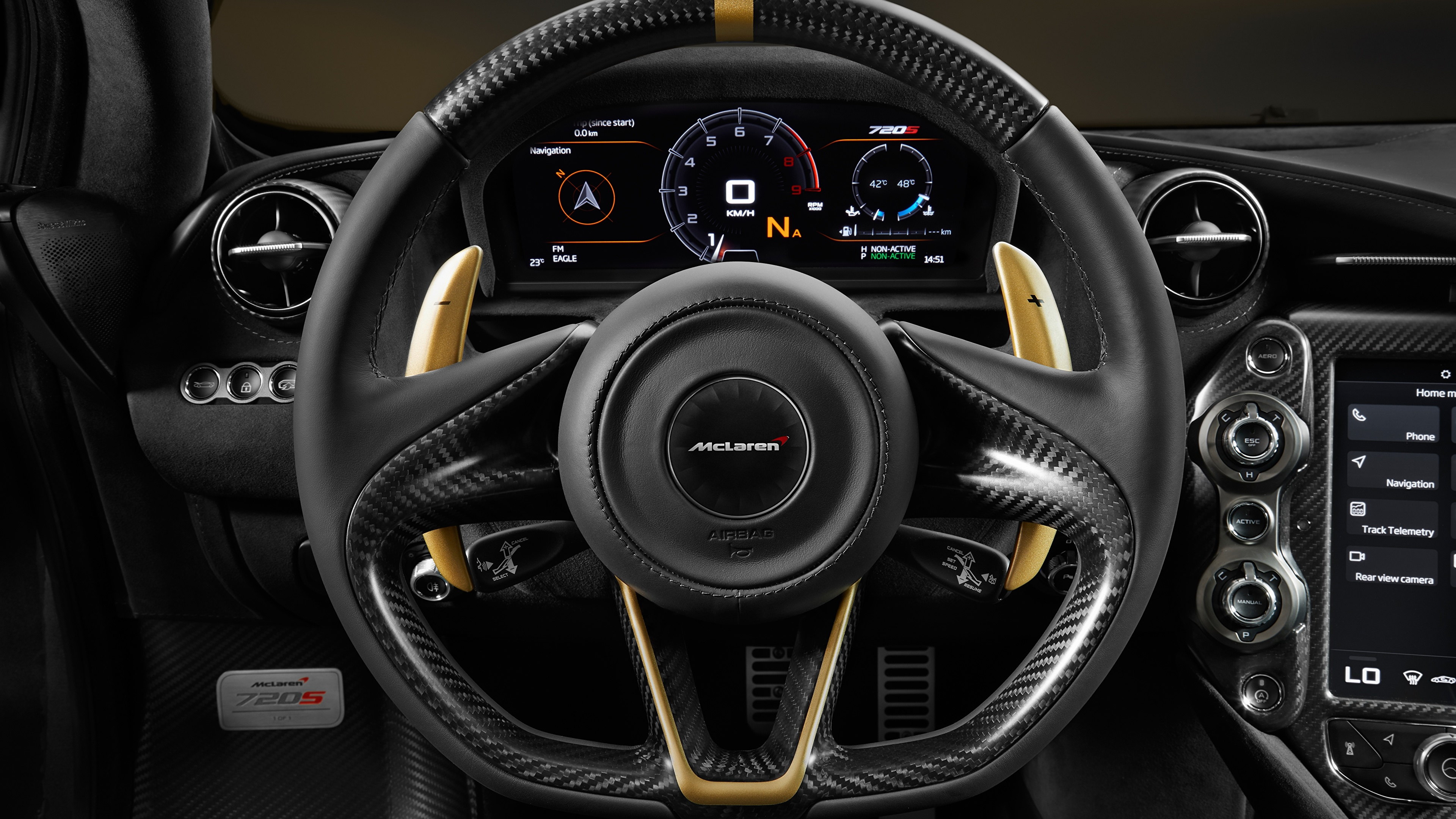 Images Mclaren Steering Wheel Limited Edition Grey Gold 3840x2160