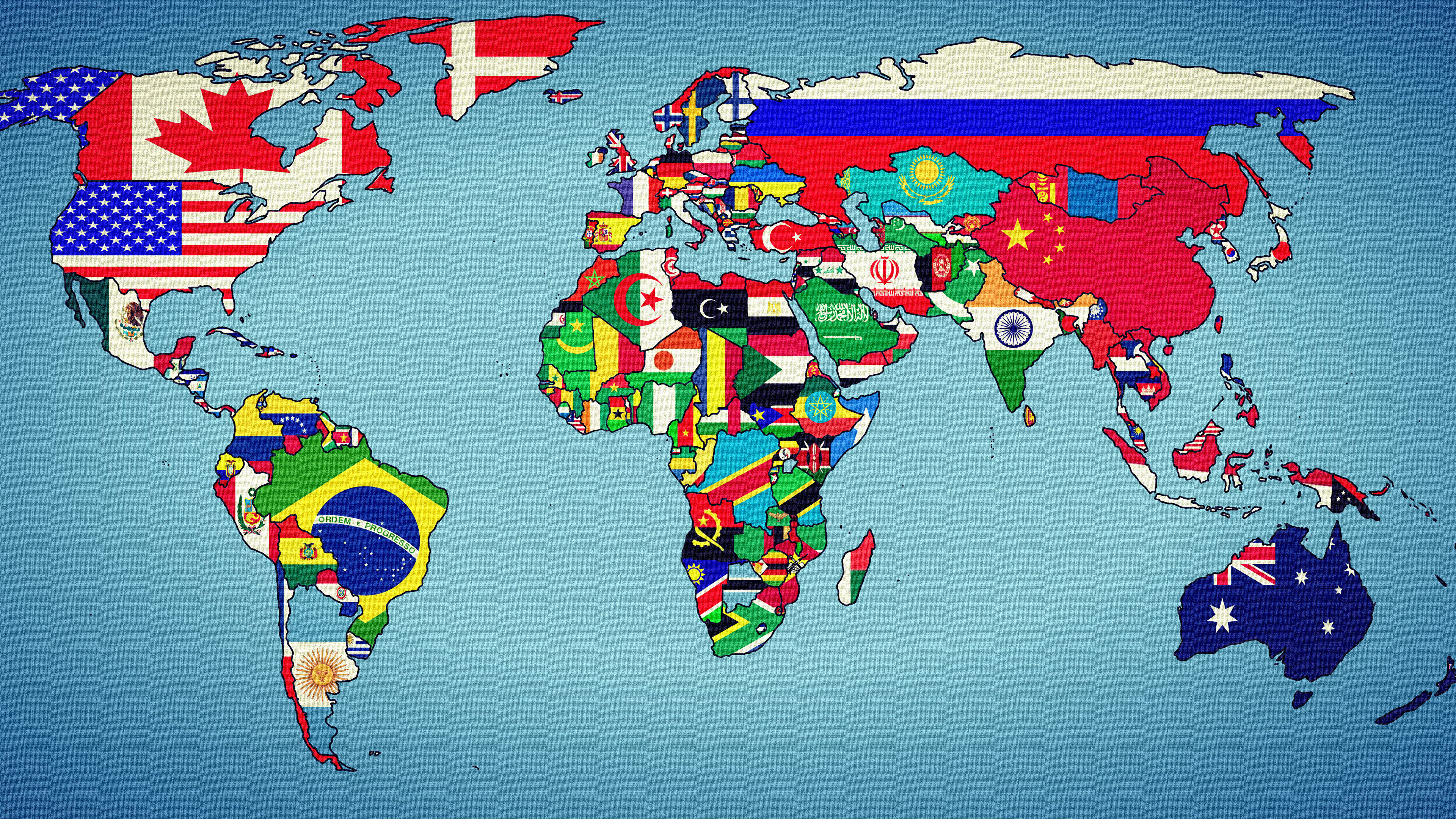 Pictures world map earth states geographic map Flag 3840x2160