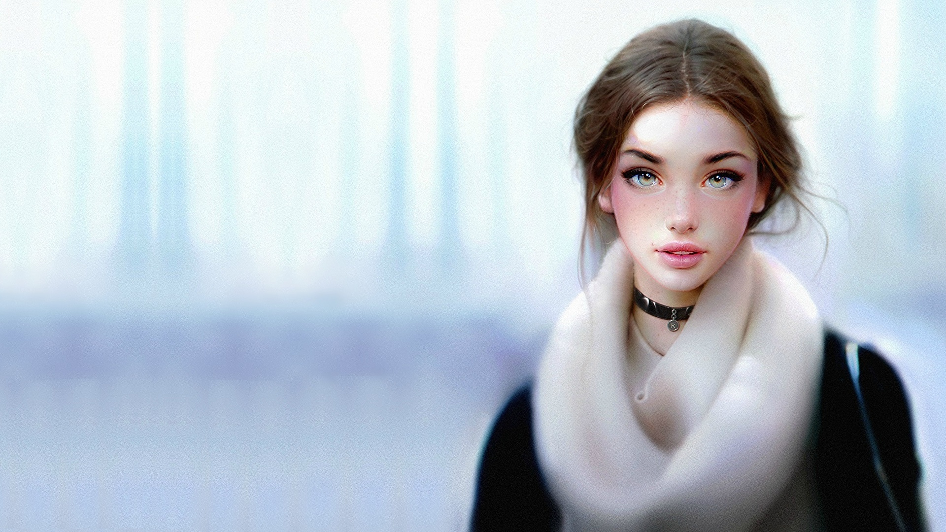 Desktop Wallpapers Brown Haired Beautiful Girls Fantasy
