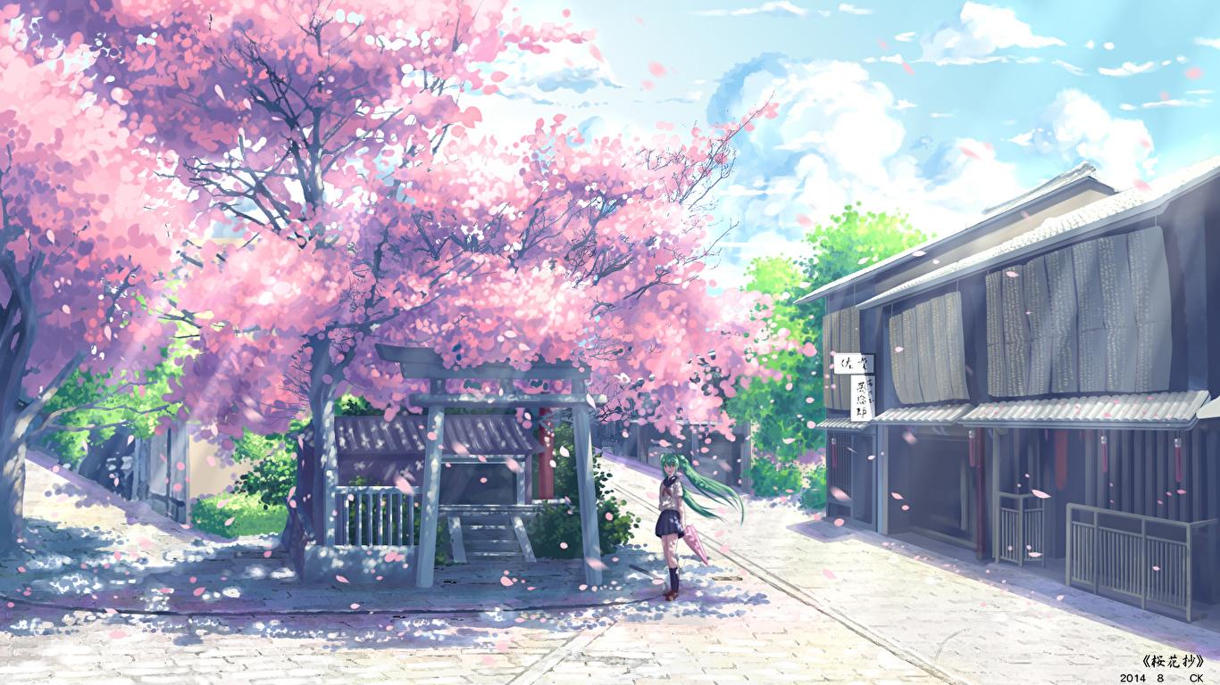 Fondos De Pantalla 1366x768 Vocaloid Hatsune Miku Yuuko San